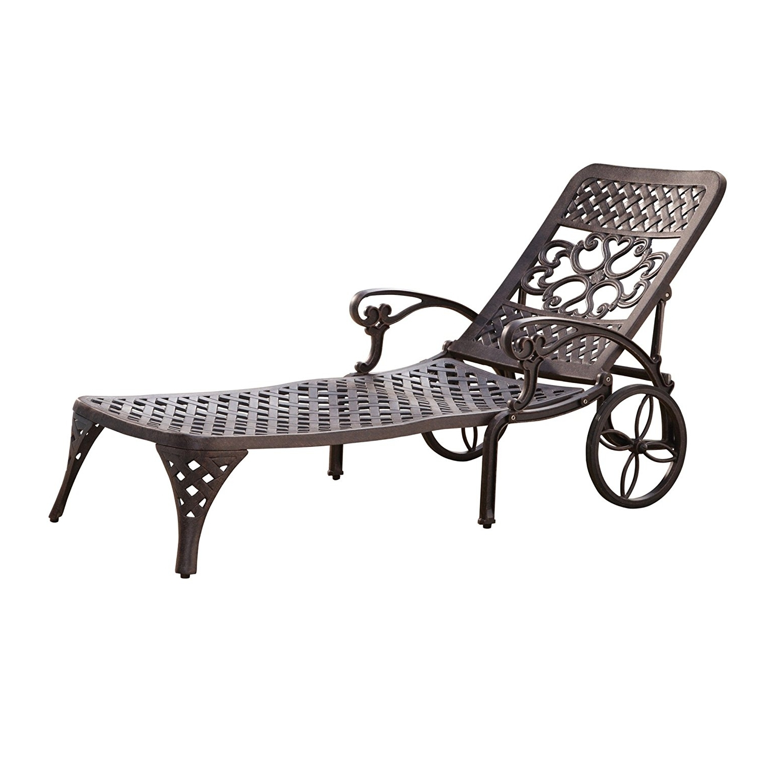 Recent Outdoor Chaise Lounge Chairs Regarding Amazon : Home Styles Biscayne Chaise Lounge Chair, Black (View 13 of 15)