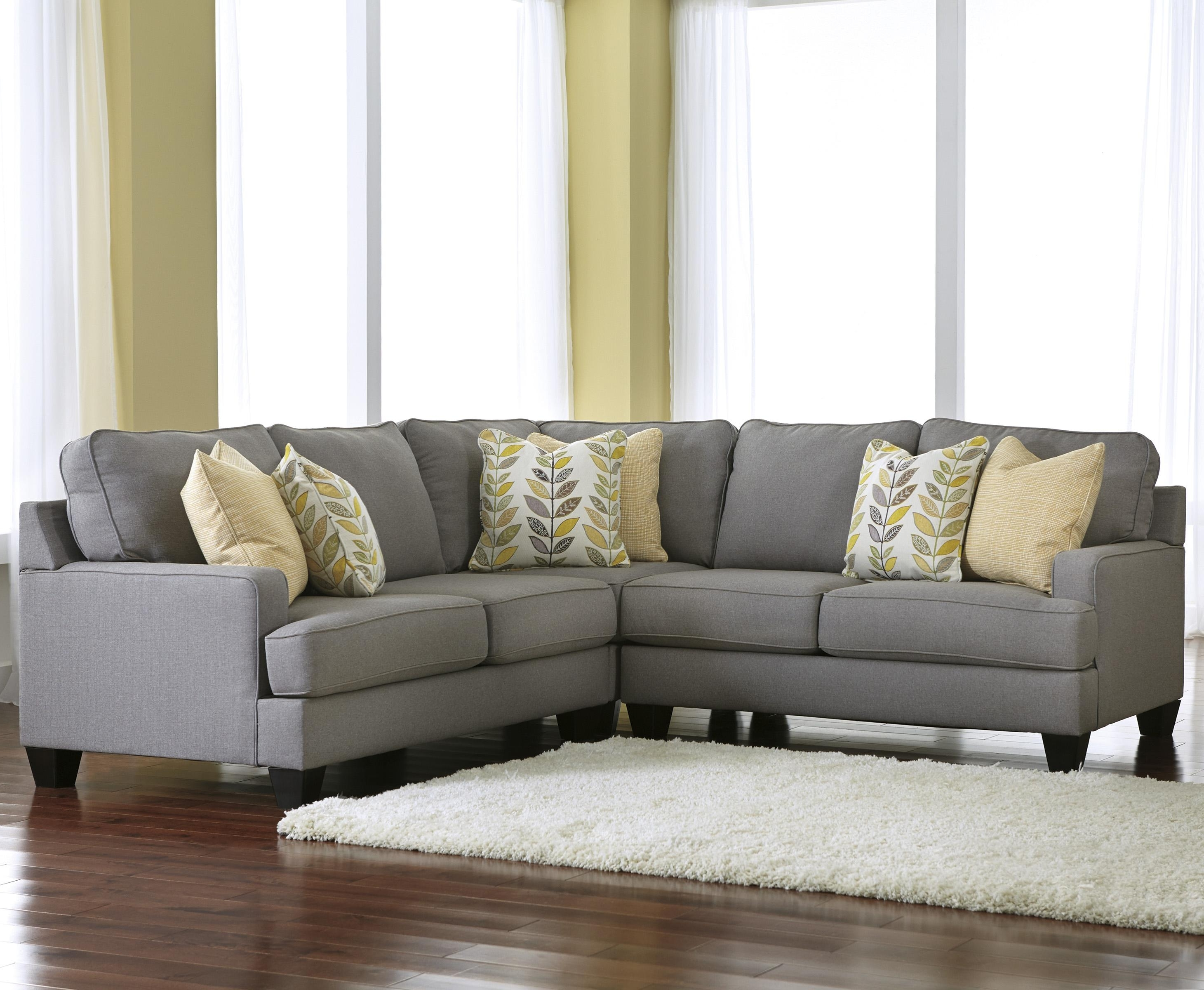 Recent Signature Designashley Chamberly – Alloy Modern 3 Piece Corner Within Greenville Sc Sectional Sofas (View 12 of 15)