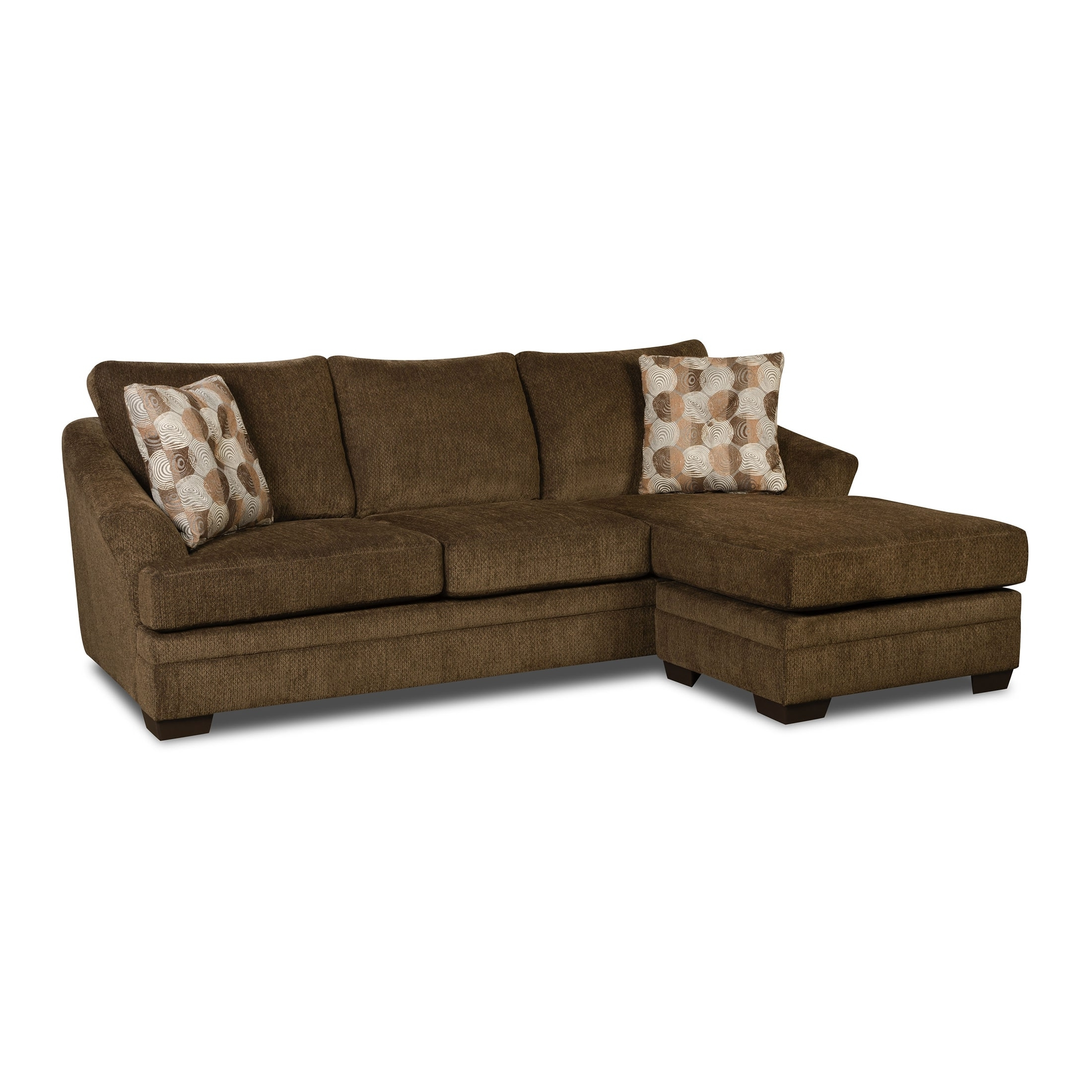 Recent Simmons Chaise Sofas In Simmons Upholstery Albany Sofa Chaise – Walmart (View 11 of 15)