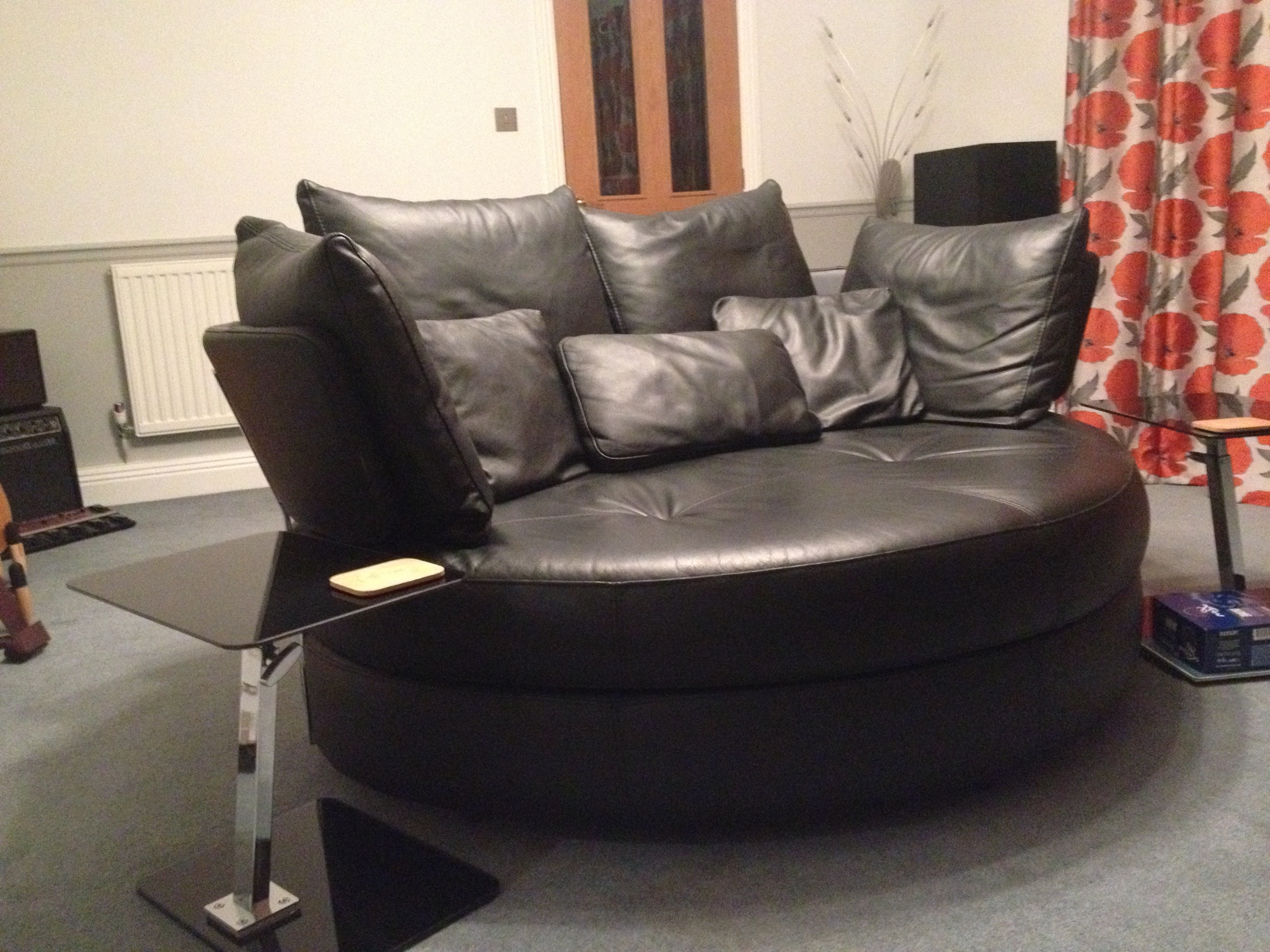 Recent Sofas With Swivel Chair Intended For Fabulous Leather 2 Person Large Swivel Snuggler Chair/sofa (View 14 of 15)