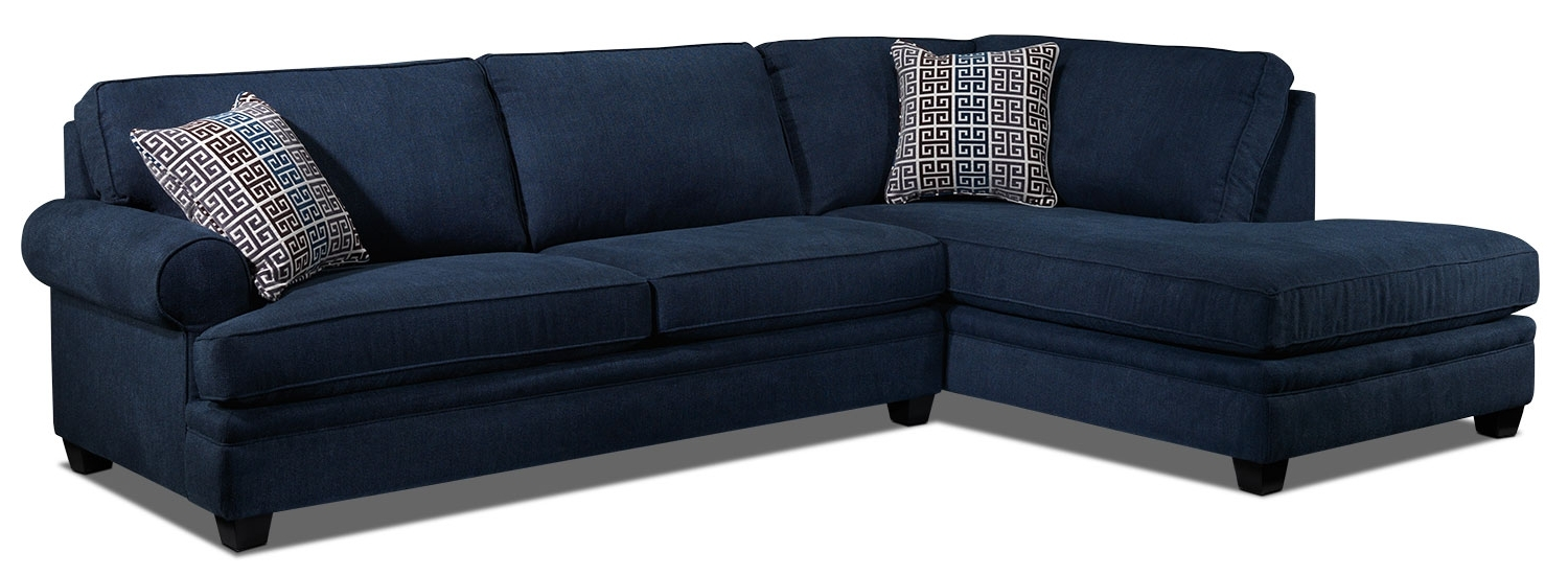 Recent Tammy 2 Piece Sectional With Left Facing Chaise – Blue (View 11 of 15)