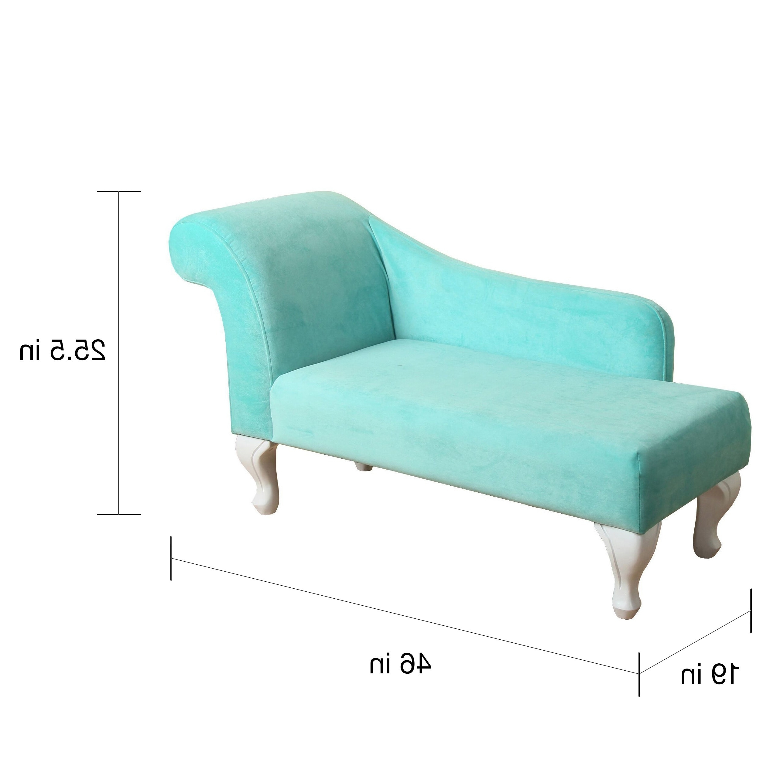 Recent Teal Chaise Lounges In Homepop Juvenile Chaise Lounge In Aqua Turquoise Velvet – Free (View 9 of 15)