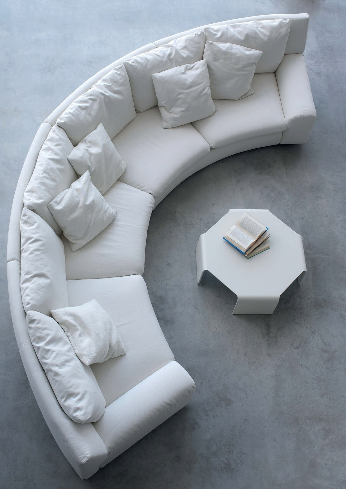 Recent The Semicircular Sofa In Fabric Ben Ben, Arflex – Luxury Furniture Mr Throughout Semicircular Sofas (View 10 of 15)