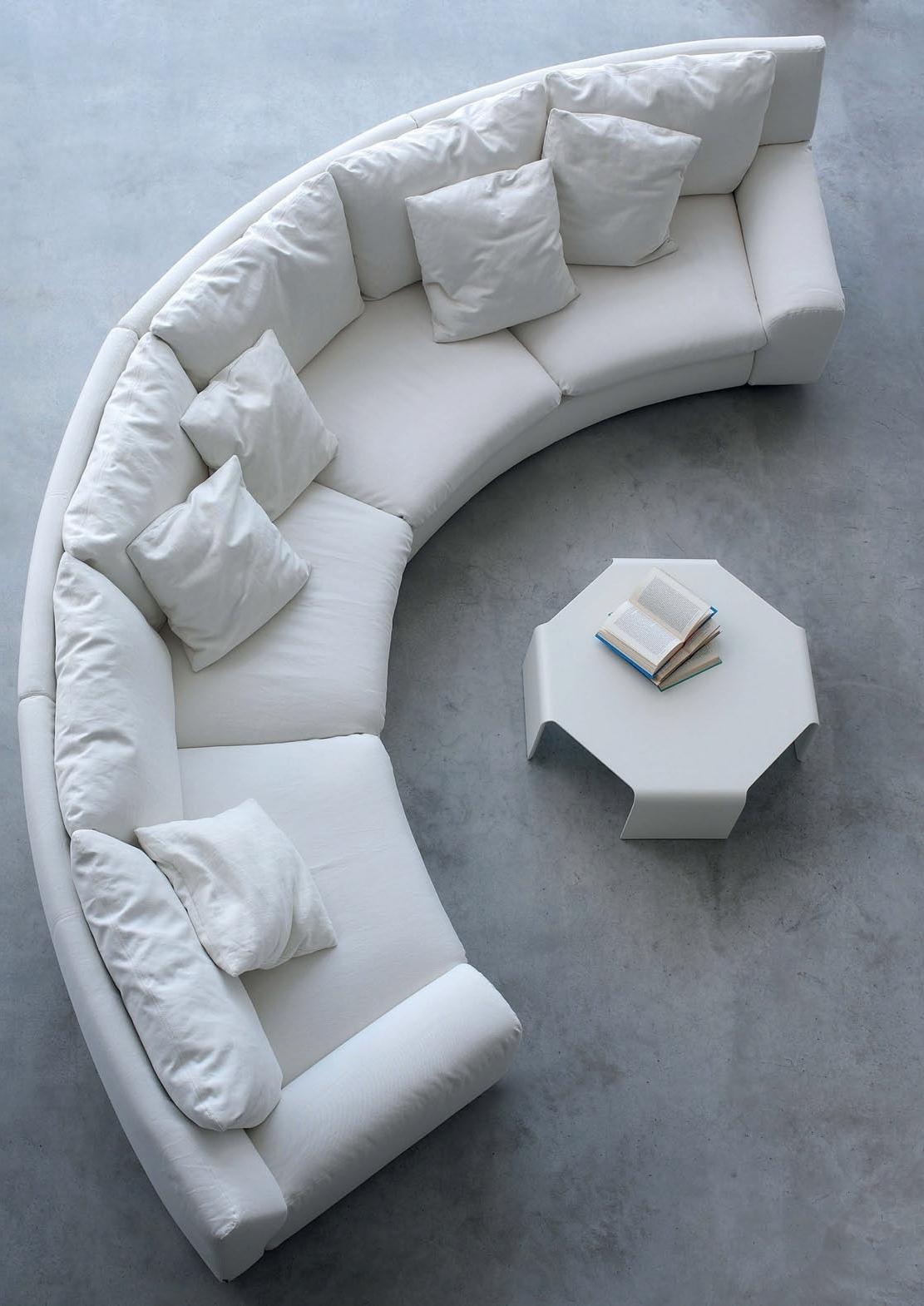 Recent The Semicircular Sofa In Fabric Ben Ben, Arflex – Luxury Furniture Mr Throughout Semicircular Sofas (View 10 of 15)