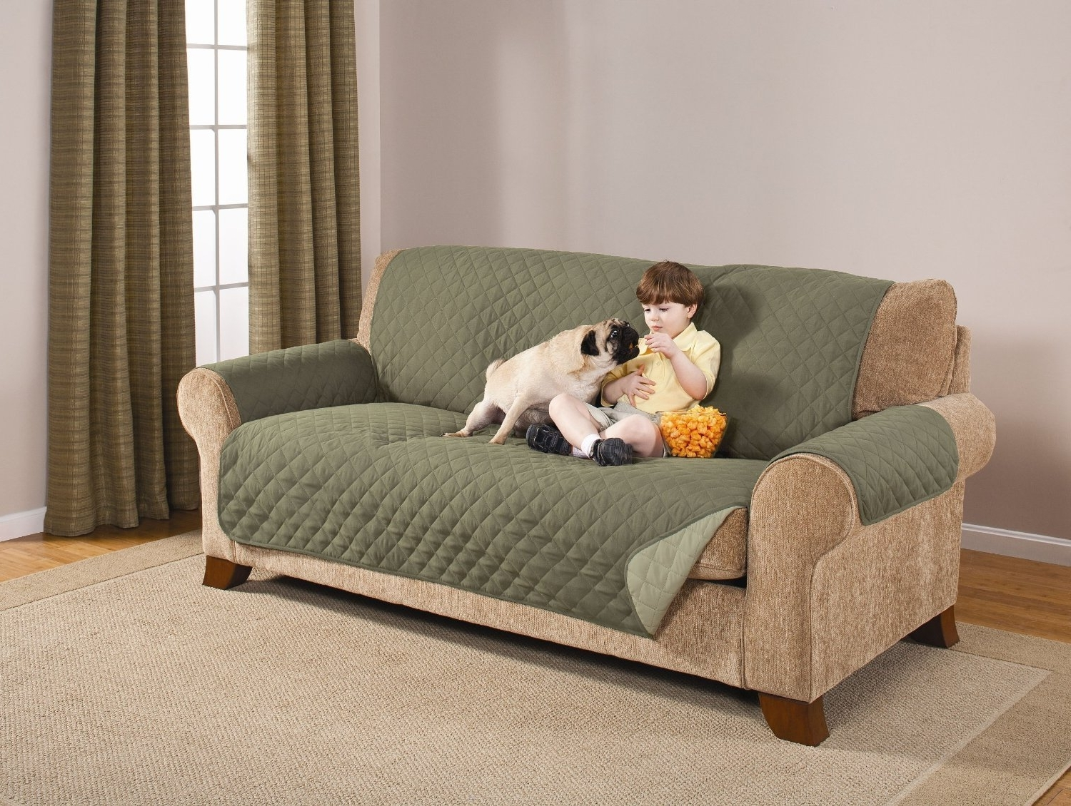 Recent Top 10 Best Sofa Covers For Pets – Pet Sofa Covers To Keep Clean With Regard To Wide Sofa Chairs (View 14 of 15)