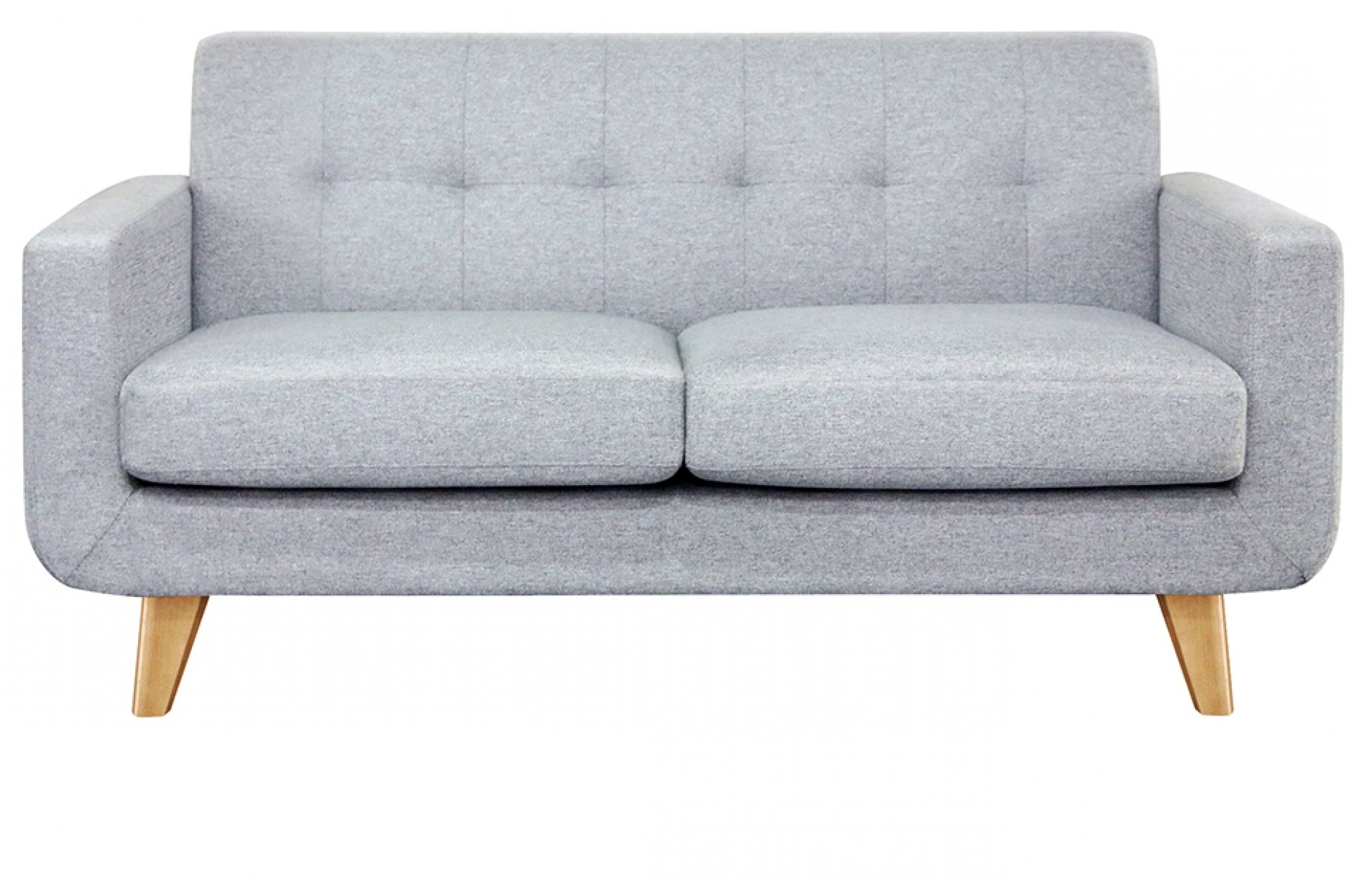 Recent Two Seater Sofas With Regard To Grey 2 Seater Sofa – Oak Legs  Lounge Furniture – Out & Out Original (View 2 of 15)