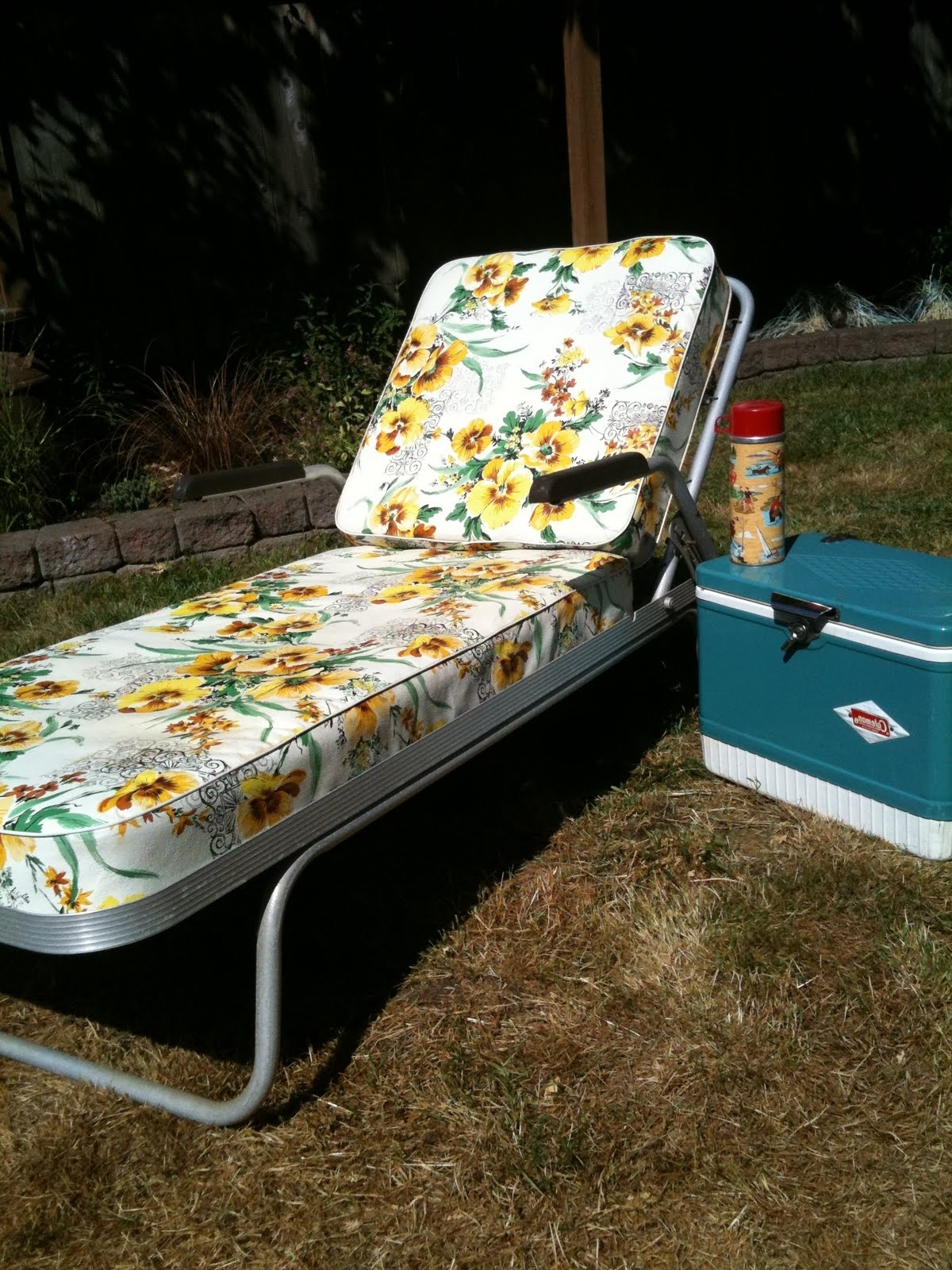 Recent Vintage Aluminum Lounge Chair • Lounge Chairs Ideas Within Vintage Outdoor Chaise Lounge Chairs (View 7 of 15)