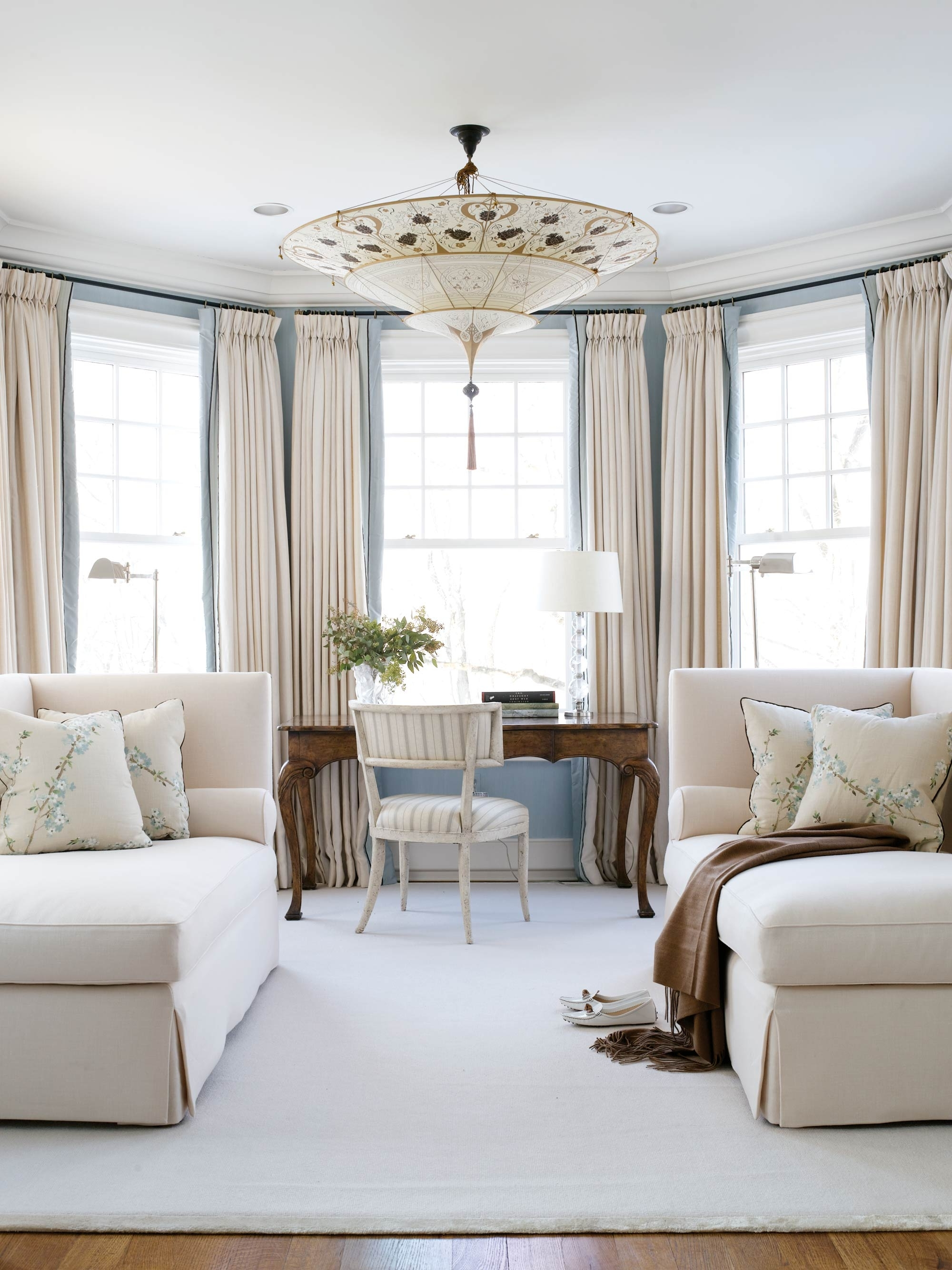Recent With Its Pale Blue Walls And Plush Cream Wool Chaises, Lovely In Chaises For Bedroom (View 11 of 15)