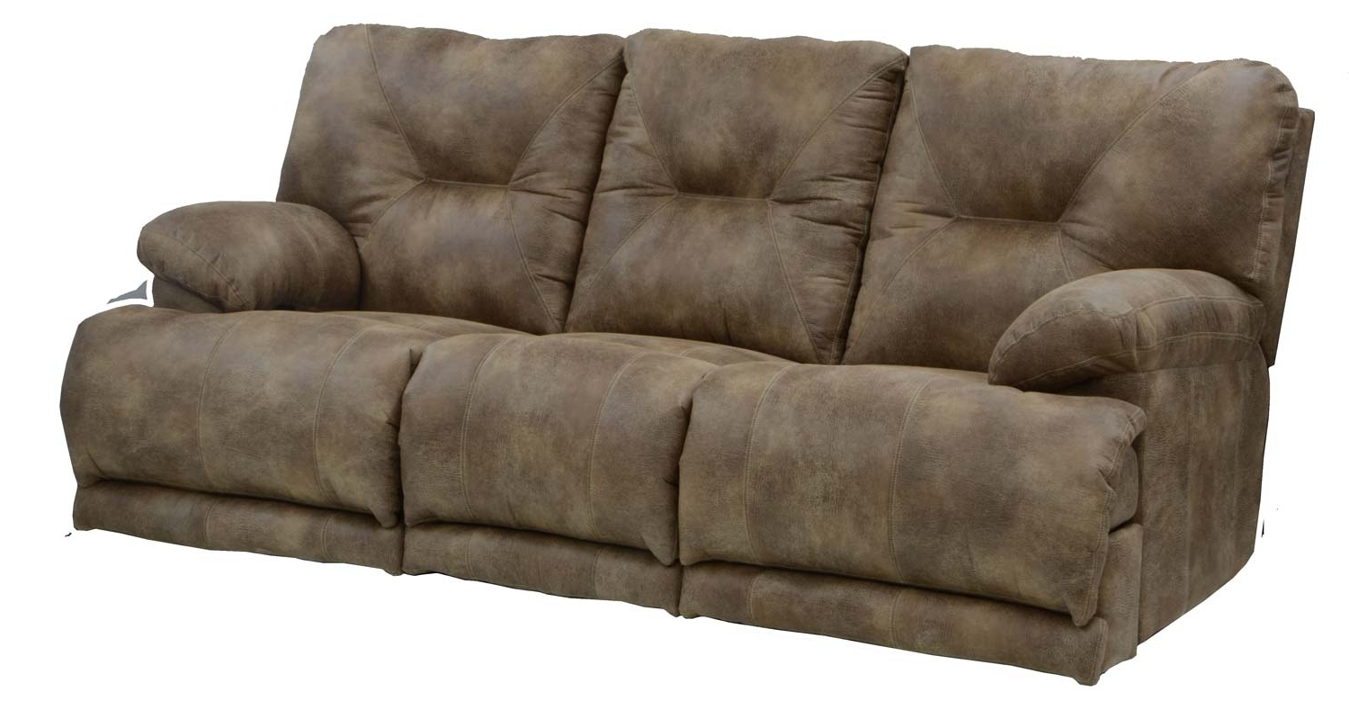 Recliner Sofas Inside Best And Newest Catnapper Voyager Lay Flat Sofa With 3 Recliners And Drop Down (View 11 of 15)