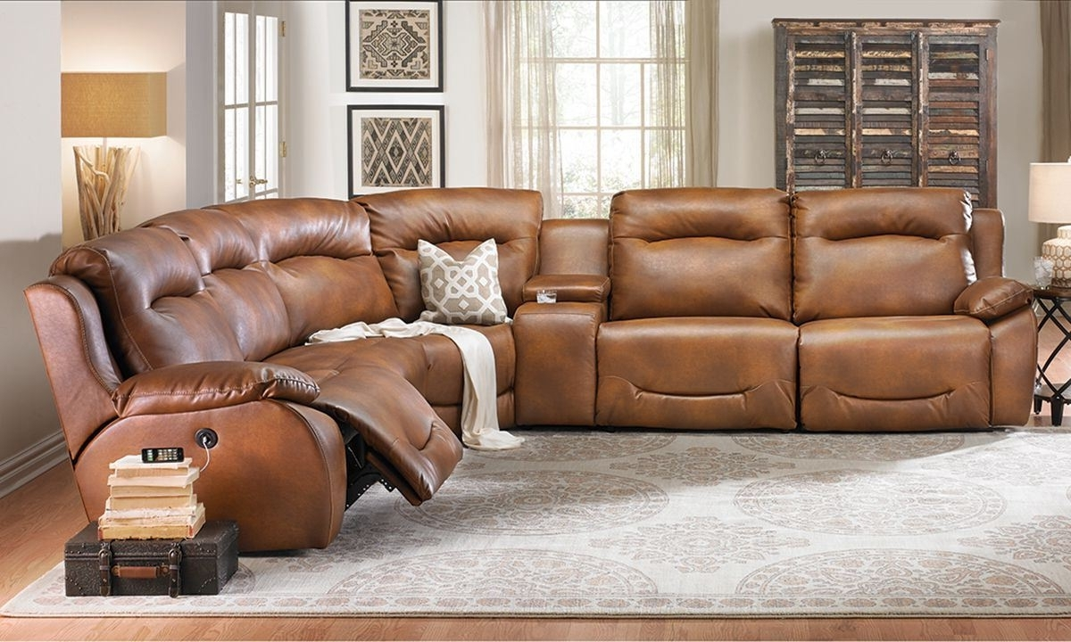 Reclining Sectional Sofas For Widely Used Power Plus Reclining Sectional Sofa (View 9 of 15)