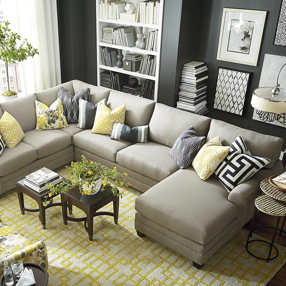 Reclining U Shaped Sectionals In Favorite Sofa : U Shaped Leather Sofa Small Sectional Sofa With Recliner U (View 7 of 15)