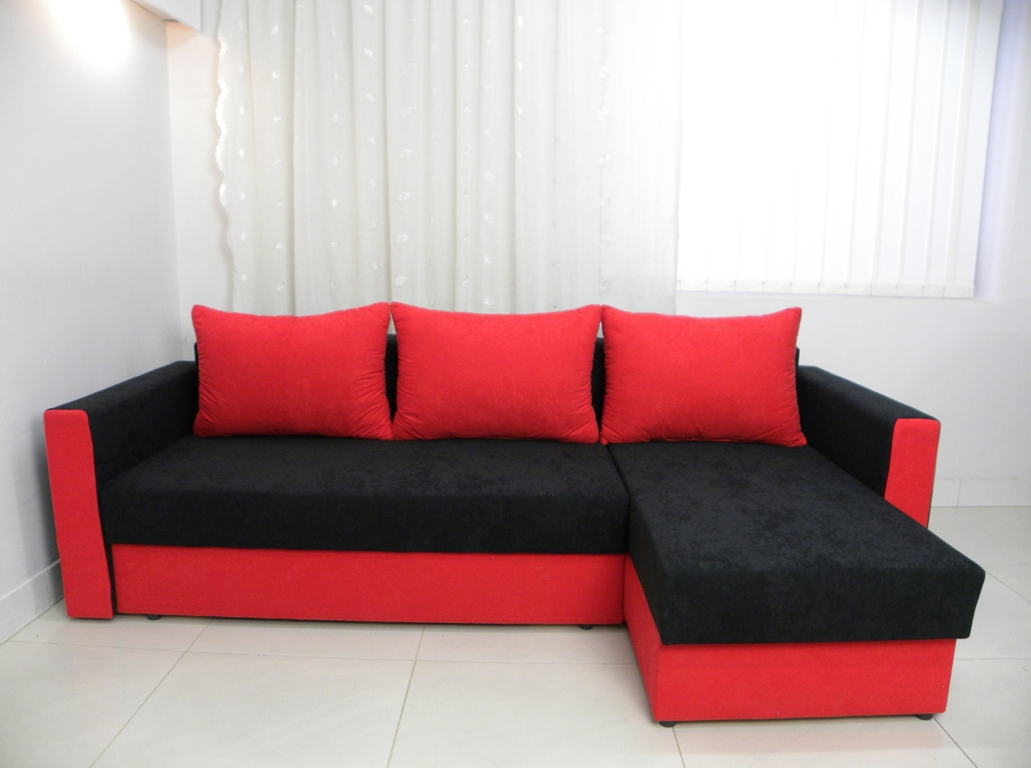 Red And Black Sofas Throughout Best And Newest Home Decor Red And Black Sofas Fabric Sofa Loveseat Set Fabricred (View 5 of 15)