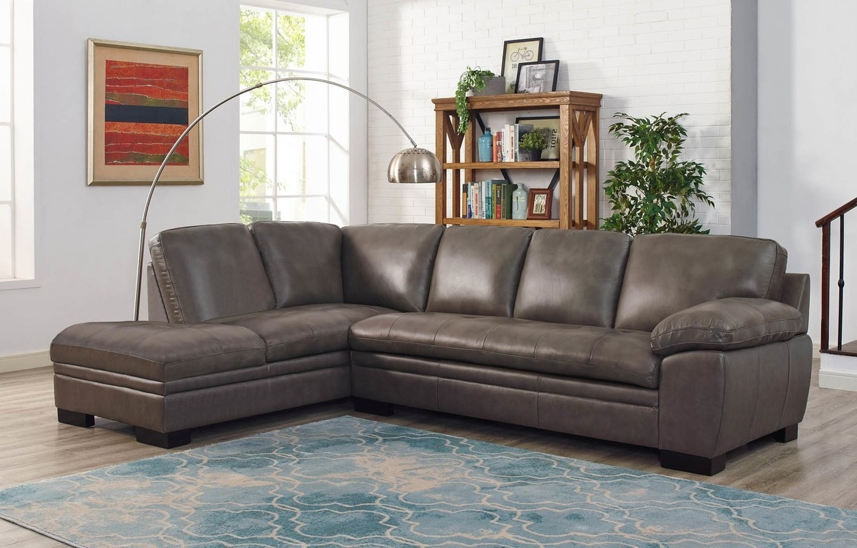 Red Barrel Studio Nick Leather Sectional With Ottoman & Reviews Intended For 2018 Leather Sectionals With Ottoman (View 14 of 15)