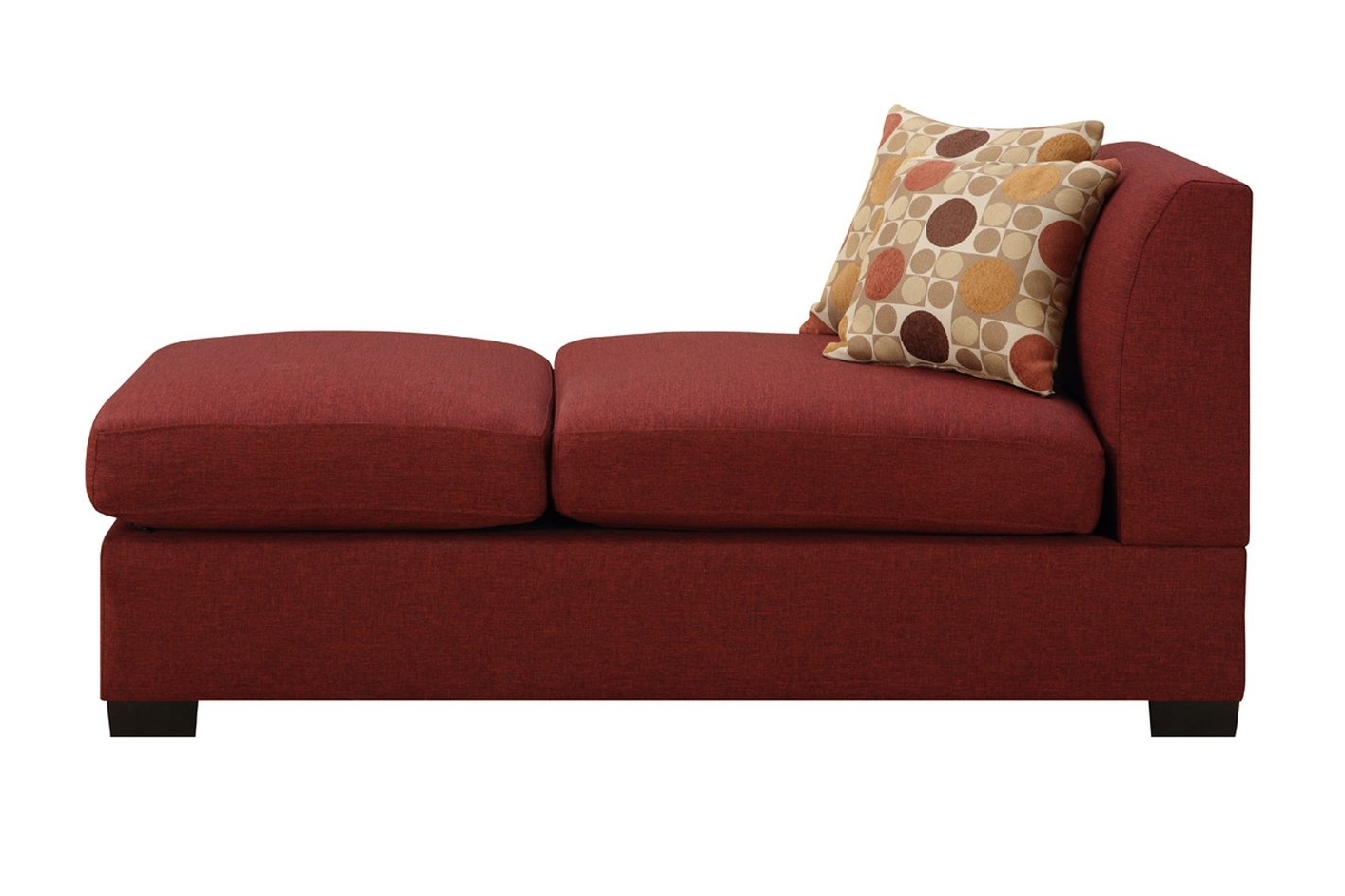 Red Fabric Chaise Lounge – Steal A Sofa Furniture Outlet Los With Famous Fabric Chaise Lounge Chairs (View 14 of 15)
