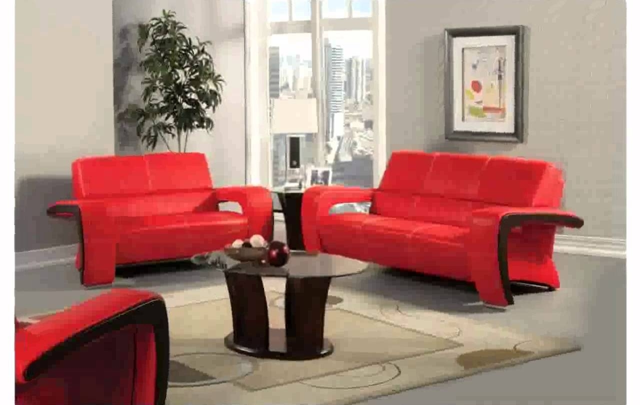 Red Leather Couch Decorating Ideas – Youtube Intended For Most Up To Date Red Leather Couches For Living Room (View 8 of 15)