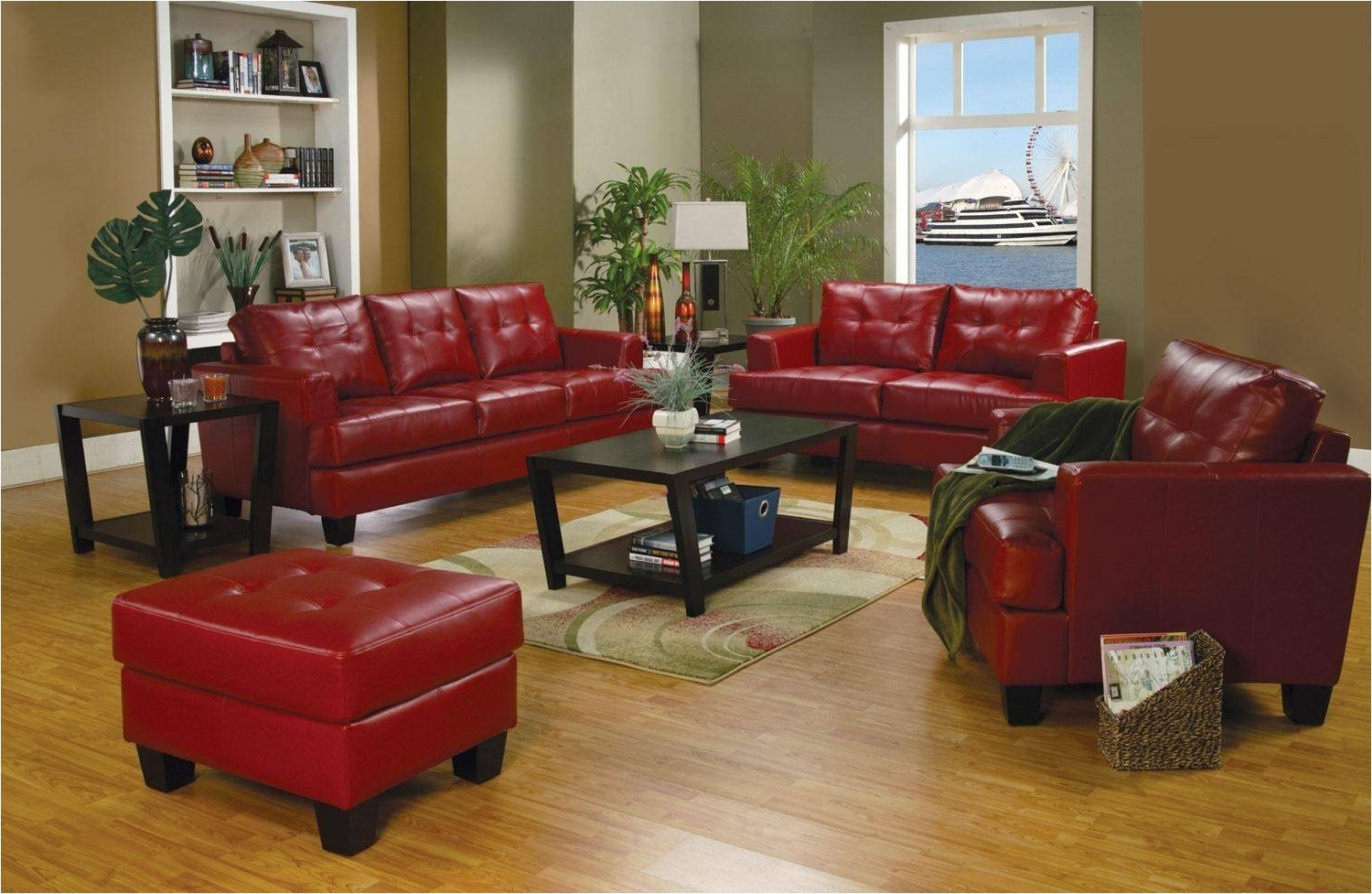 Red Leather Couches And Loveseats Inside Current Burgundy Leather Couch And Loveseat Red Sectional Red Leather (View 2 of 15)