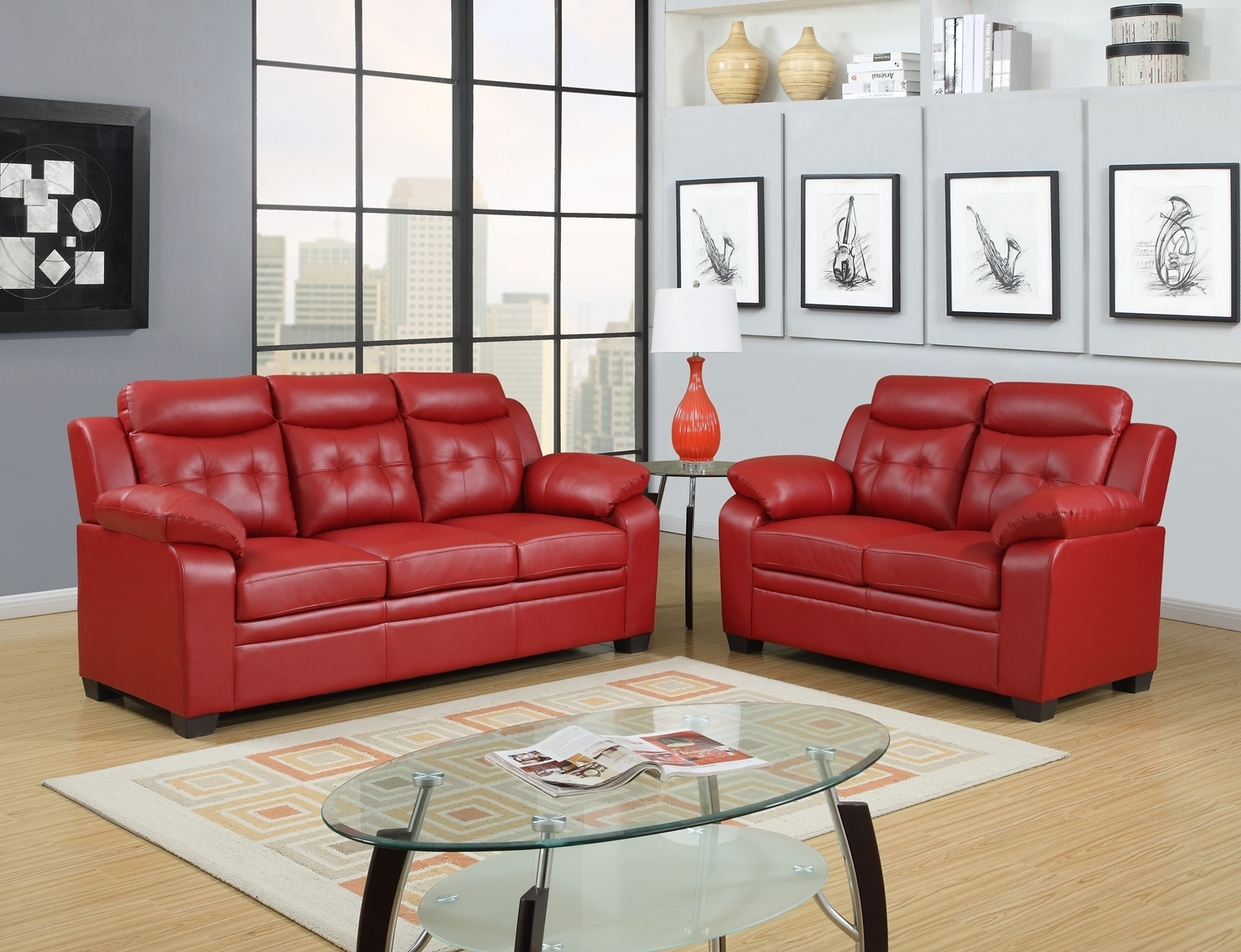 Red Leather Couches And Loveseats Pertaining To Latest Remarkable Red Leather Sofas And Loveseats Pics Ideas – Surripui (View 4 of 15)