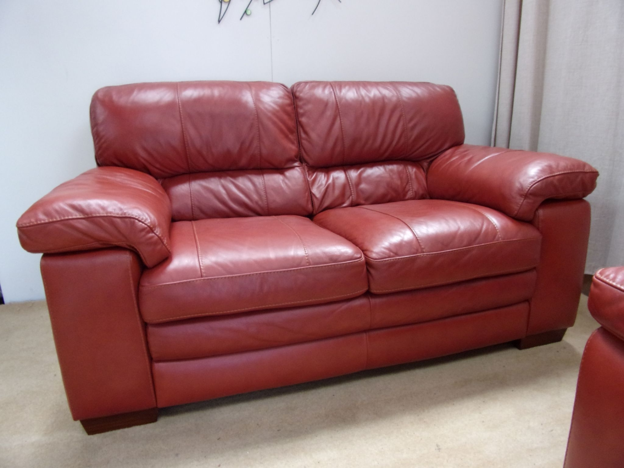 Red Leather Couches And Loveseats Throughout 2017 Sears Leather Sofa Sofas Red Gumtree Manchester Ireland Couch And (View 11 of 15)