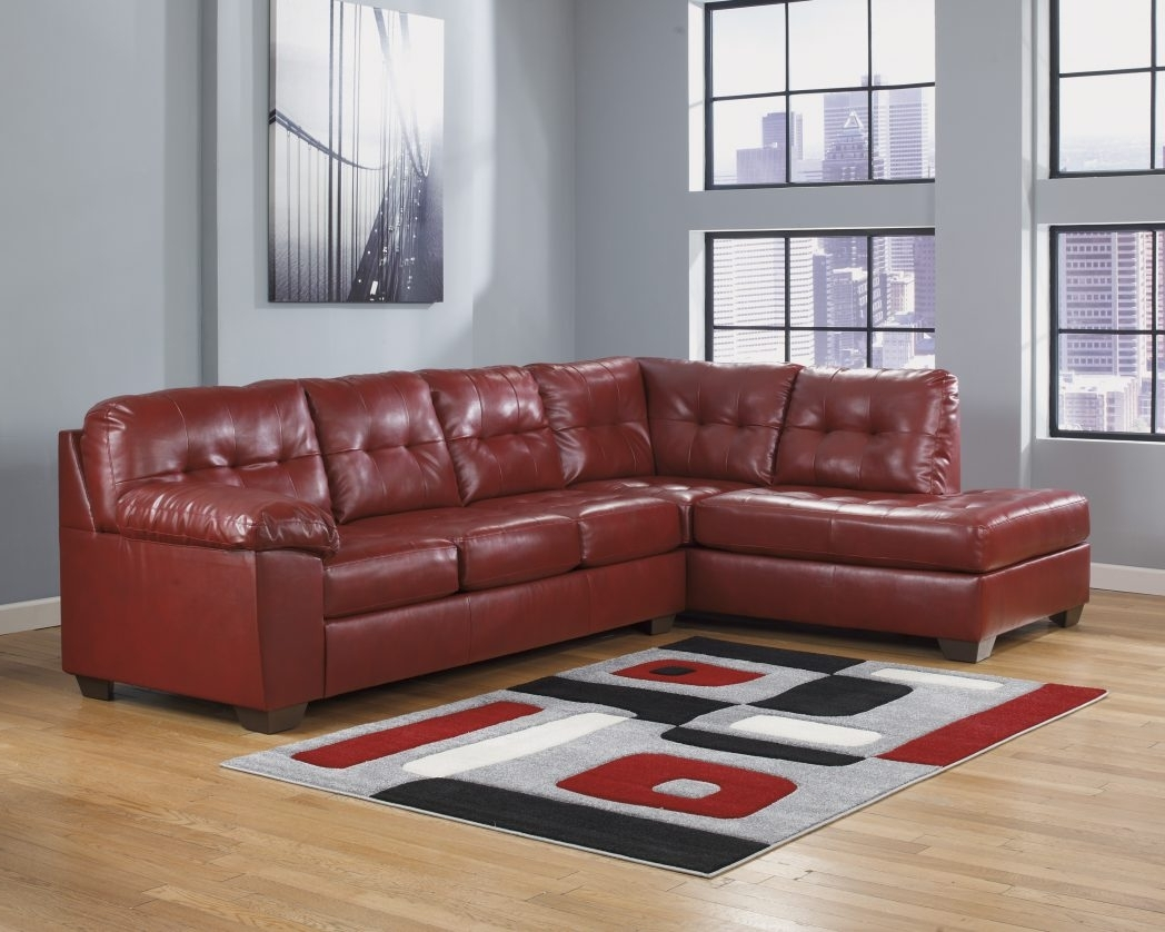 Red Leather Sectional Sofas With Ottoman Intended For Most Up To Date Sofa Red Leather Sectional With Ottoman Recliner Sofas Value City (View 9 of 15)
