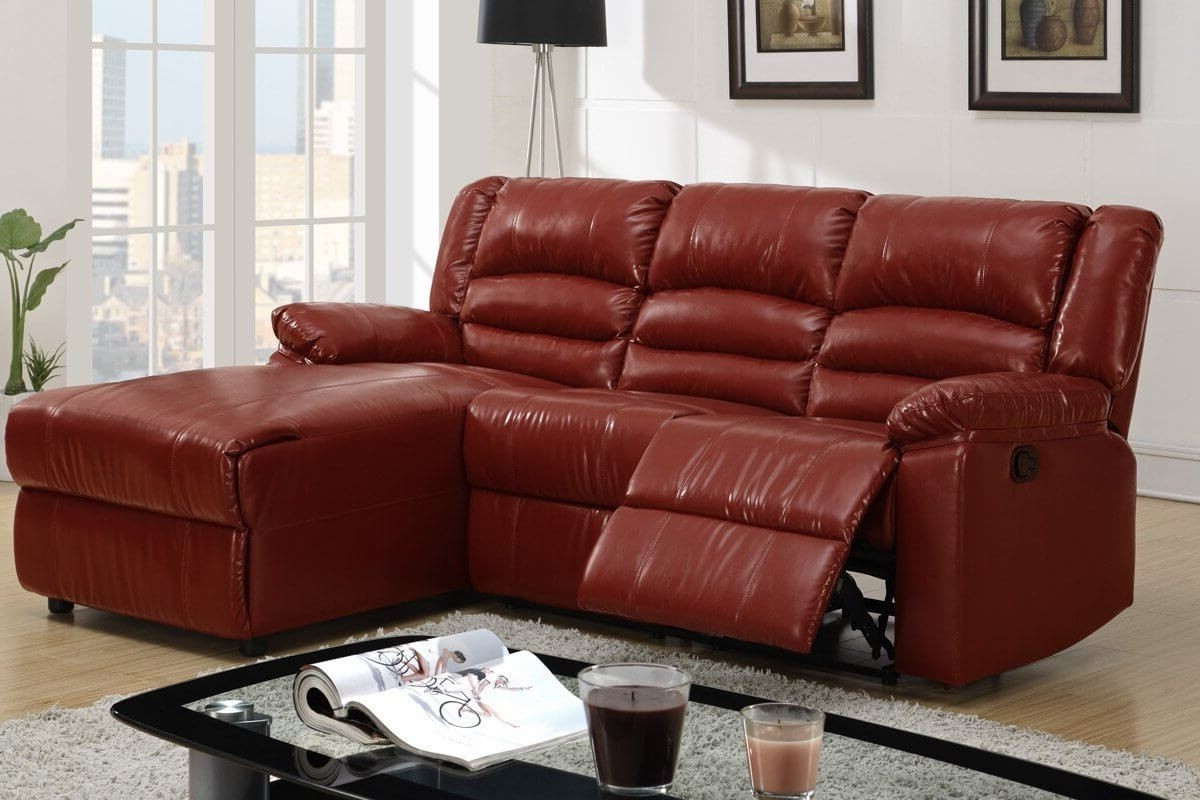 Red Leather Sectional Sofas With Recliners Regarding Most Up To Date 100 Awesome Sectional Sofas Under $1,000 (2018) (View 8 of 15)