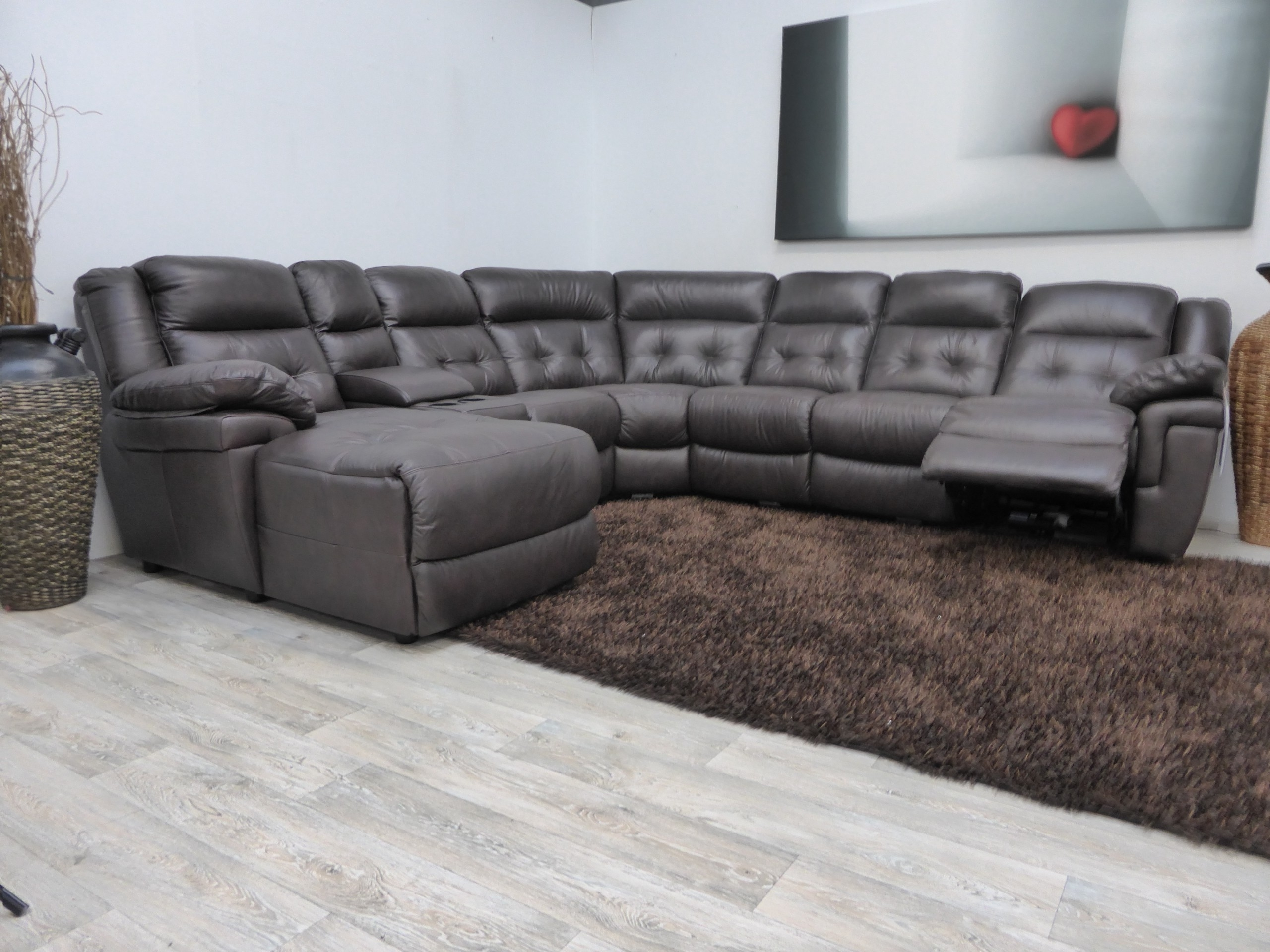 Red Leather Sectional Sofas With Recliners With Regard To Current Furniture : Blue Leather Sectional Sofa And White Cushions Added (View 12 of 15)