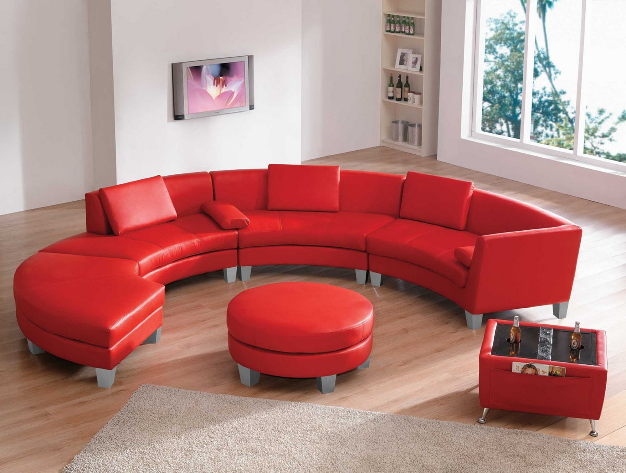 Red Leather Sectionals With Chaise Inside Most Up To Date Sofas : Red Sectional Cheap Sectional Sofas U Shaped Couch (View 10 of 15)