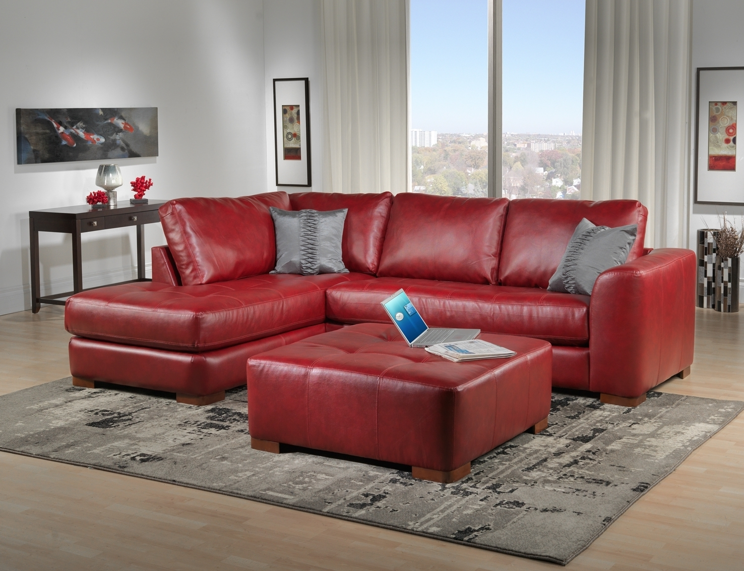 Red Leather Sectionals With Chaise Intended For Well Known Sofas: Buy Sectional Sofa (View 13 of 15)