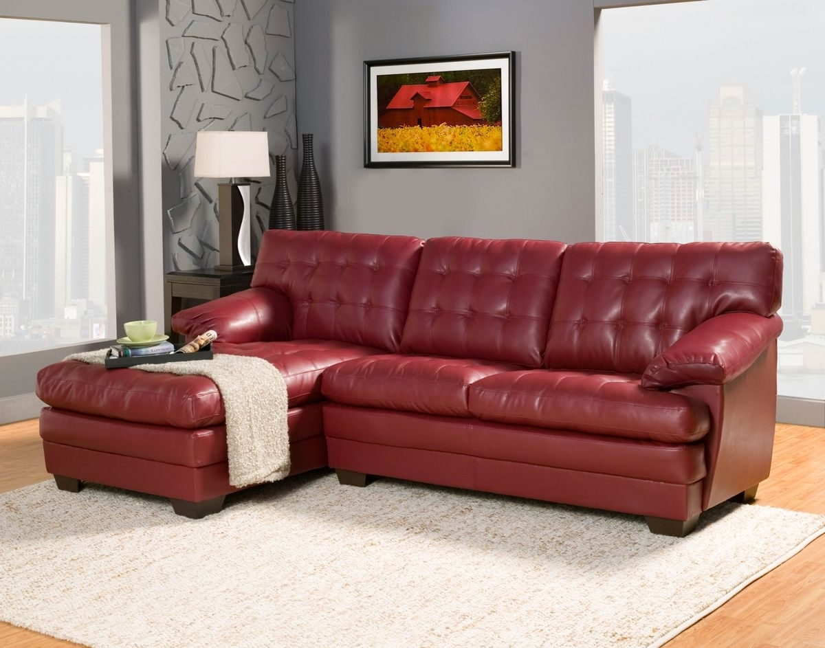 Red Leather Sectionals With Chaise Intended For Well Liked Beautiful Red Leather Sectional Sofa With Chaise Photos (View 3 of 15)