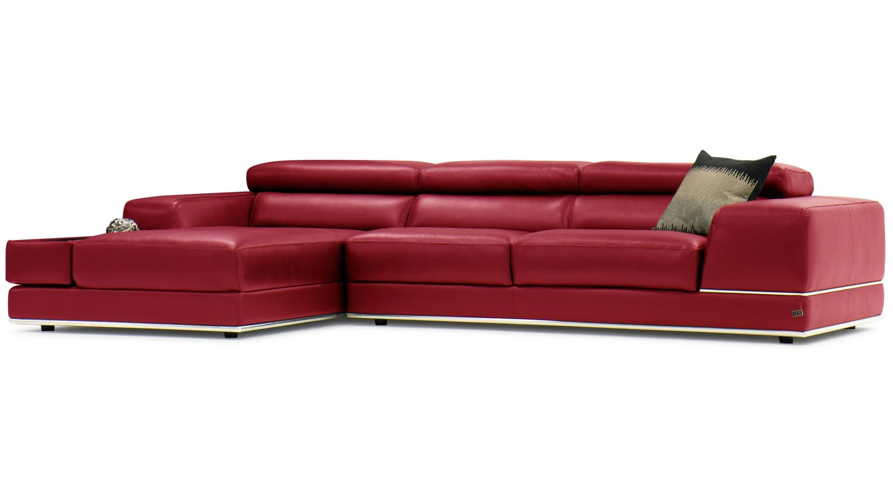 Red Leather Sofas Throughout Fashionable Encore Red Leather Sofa (View 8 of 15)