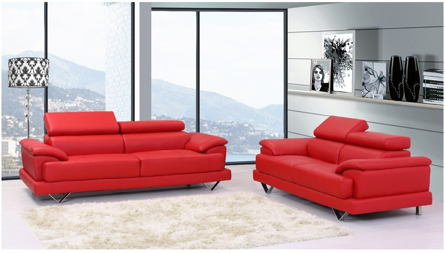 Red Leather Sofas Within Most Up To Date Perfect Red Leather Sofas 90 For Contemporary Sofa Inspiration (View 12 of 15)