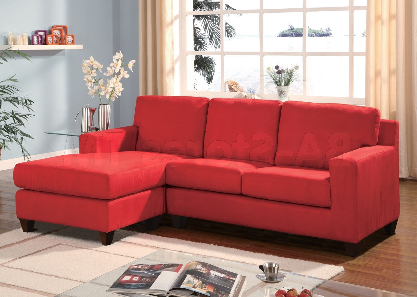 Red Sectional Sofa For Newly Wed Couples Home – Furnitureanddecors For Most Up To Date Red Sectional Sofas (View 6 of 15)