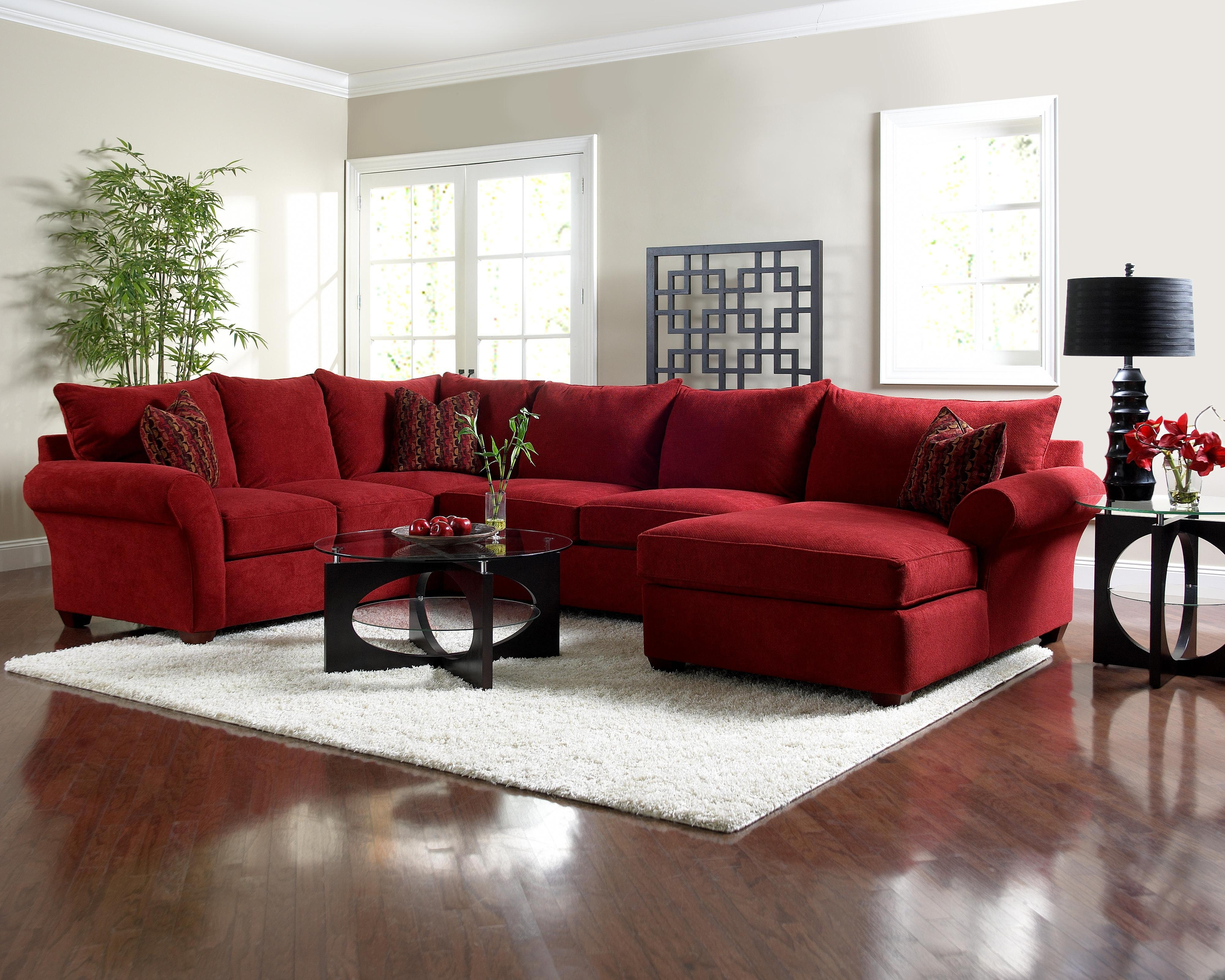 Red Sectional Sofa With Chaise (View 5 of 15)