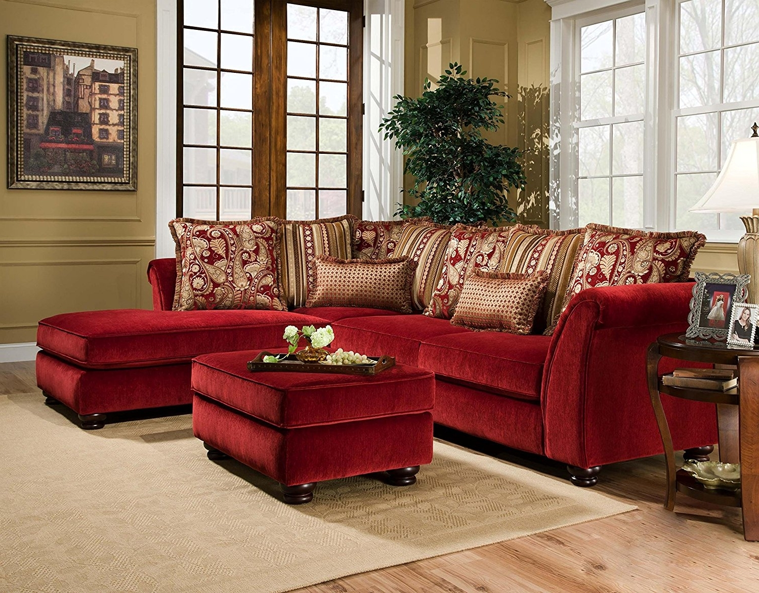 Red Sectional Sofas With Chaise Within Fashionable Amazon: Chelsea Home Furniture Alexandria 2 Piece Sectional (View 13 of 15)