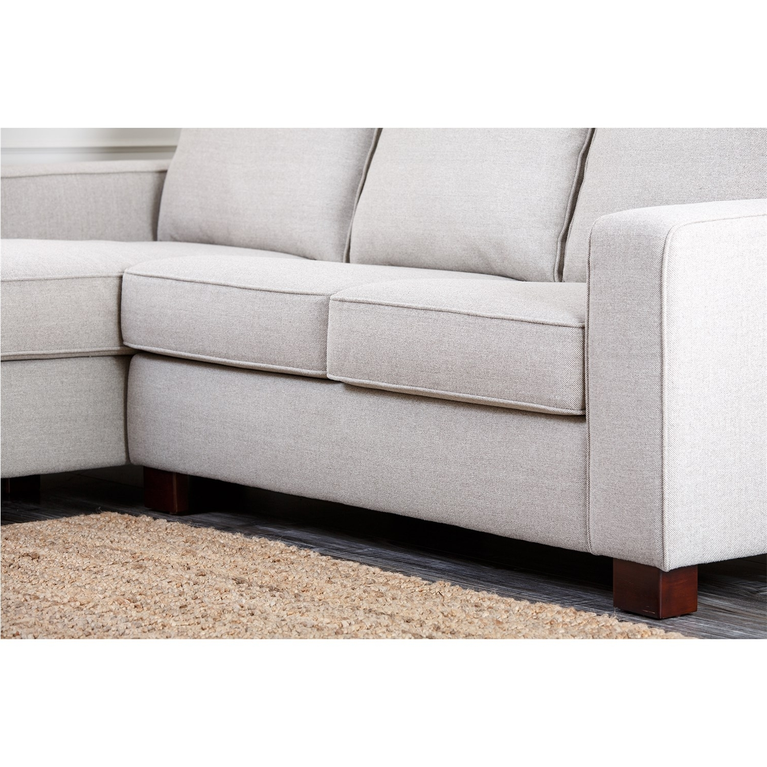 Regina Sectional Sofas With Regard To Preferred Abbyson Living Rl 1321 Gry Regina Grey Fabric Sectional Sofa (View 9 of 15)