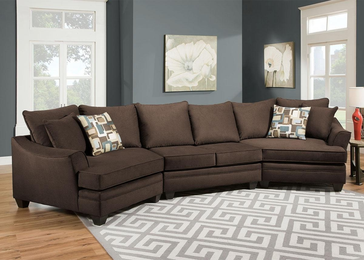 Remarkable Sectional Sofa With Cuddler Chaise 72 For Your Chenille Regarding Most Current Sectionals With Cuddler And Chaise (View 9 of 15)