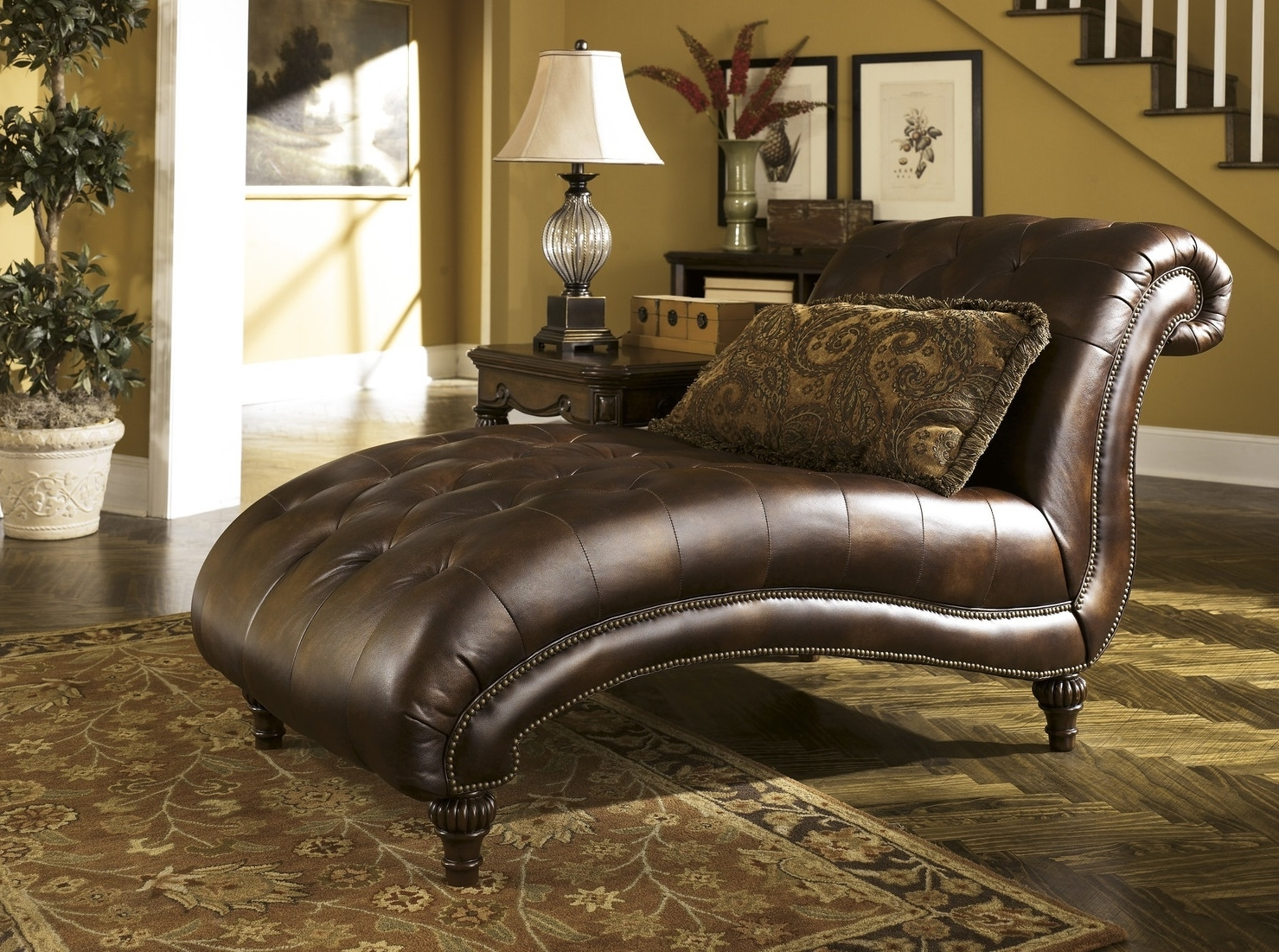Repair A Cracked Leather Chaise Lounge Chair — Bed And Shower Intended For Famous Tufted Leather Chaises (View 6 of 15)