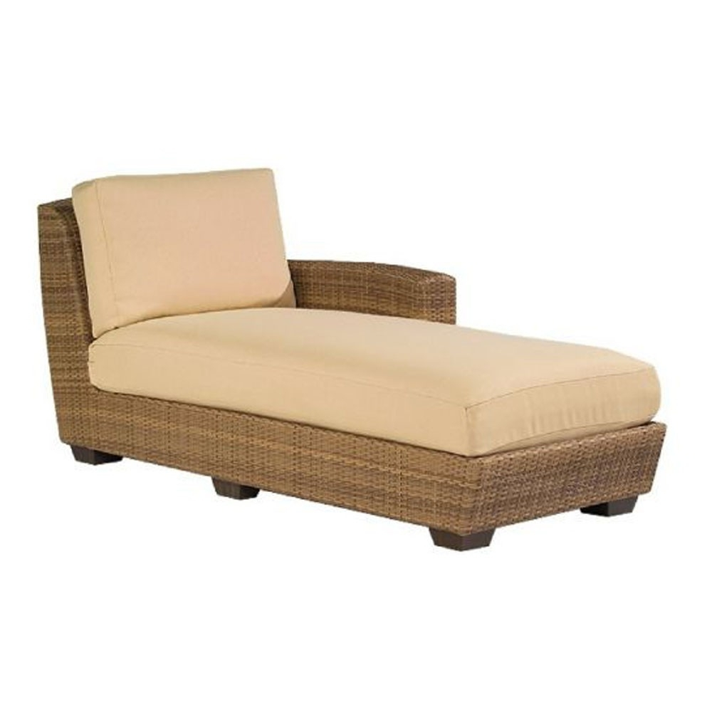 Replacement Cushion – Whitecraftwoodard Saddleback Wicker Throughout Newest Left Arm Chaise Lounges (View 10 of 15)