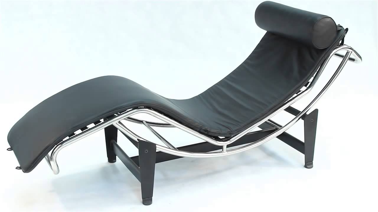 Replica Le Corbusier Chaise Longue Lc4 – Youtube Pertaining To Fashionable Le Corbusier Chaises (View 14 of 15)