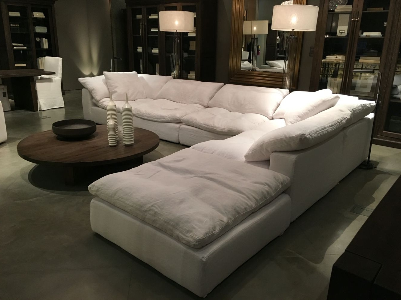 "[%Restoration Hardware Sectional ""cloud"" Couch 