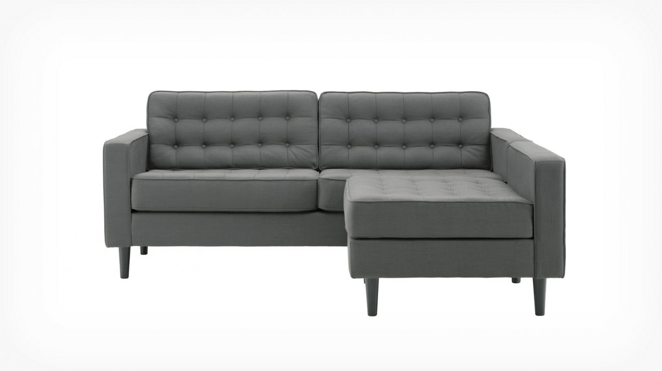 Reverie Apartment 2 Piece Sectional Sofa With Chaise – Fabric With Well Liked Apartment Sectional Sofas With Chaise (View 2 of 15)