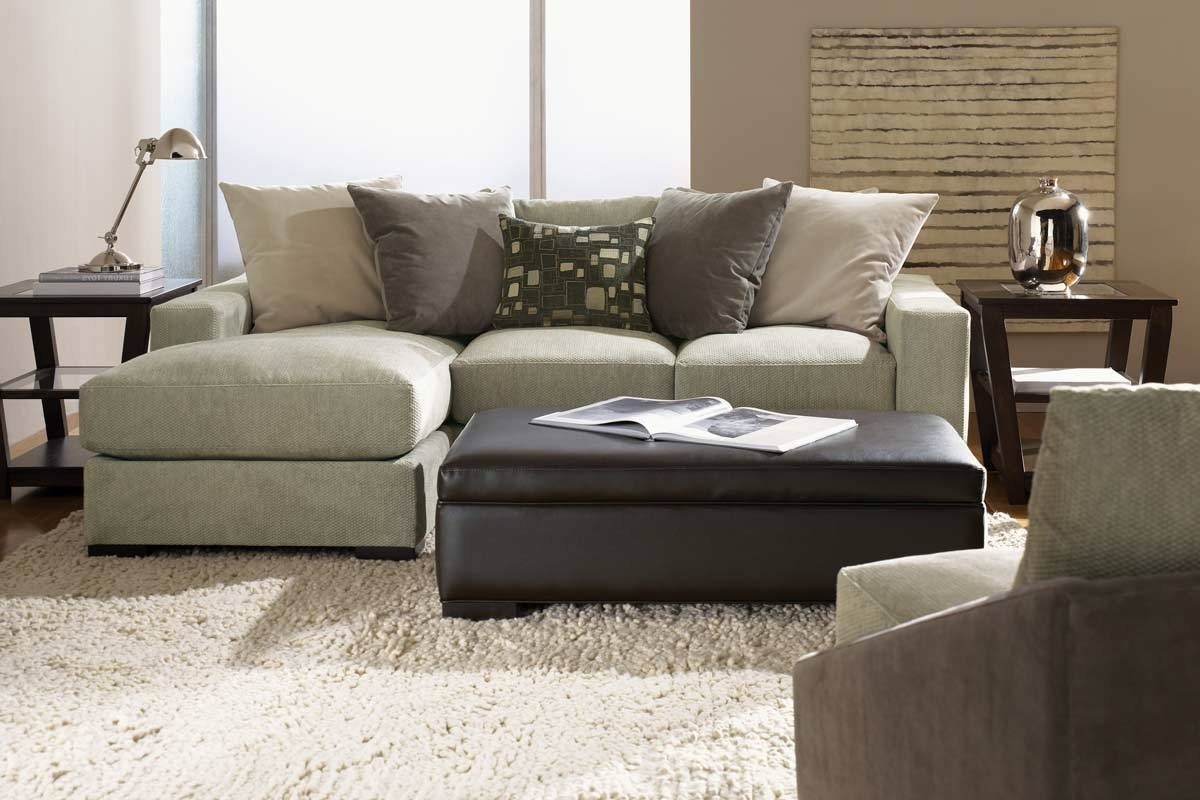 Reversible Chaise Sectional Sofas In Most Recently Released Modern Hazelnut Espresso 3 Piece Microfiber Sectional Sofa Ottoman (View 1 of 15)