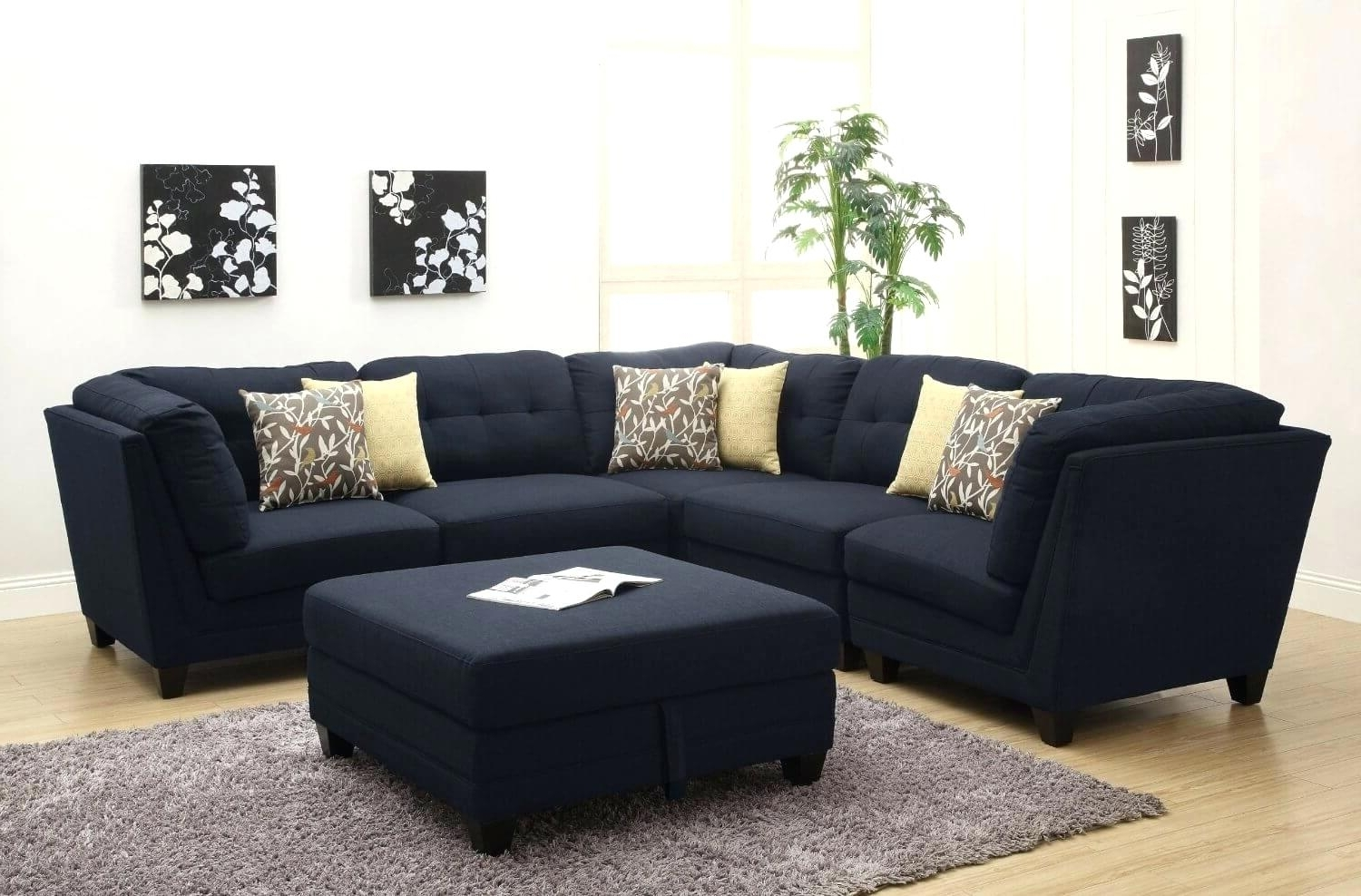 Reversible Chaise Sectionals In Trendy Black Sectional Sofas – Dailysudoku (View 12 of 15)