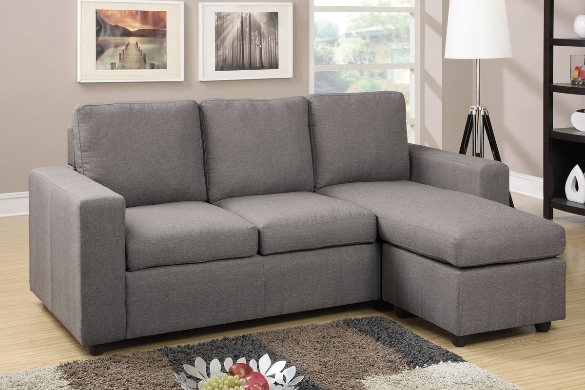 Reversible Sectional Sofa Couch Ottoman Poundex #f (View 11 of 15)