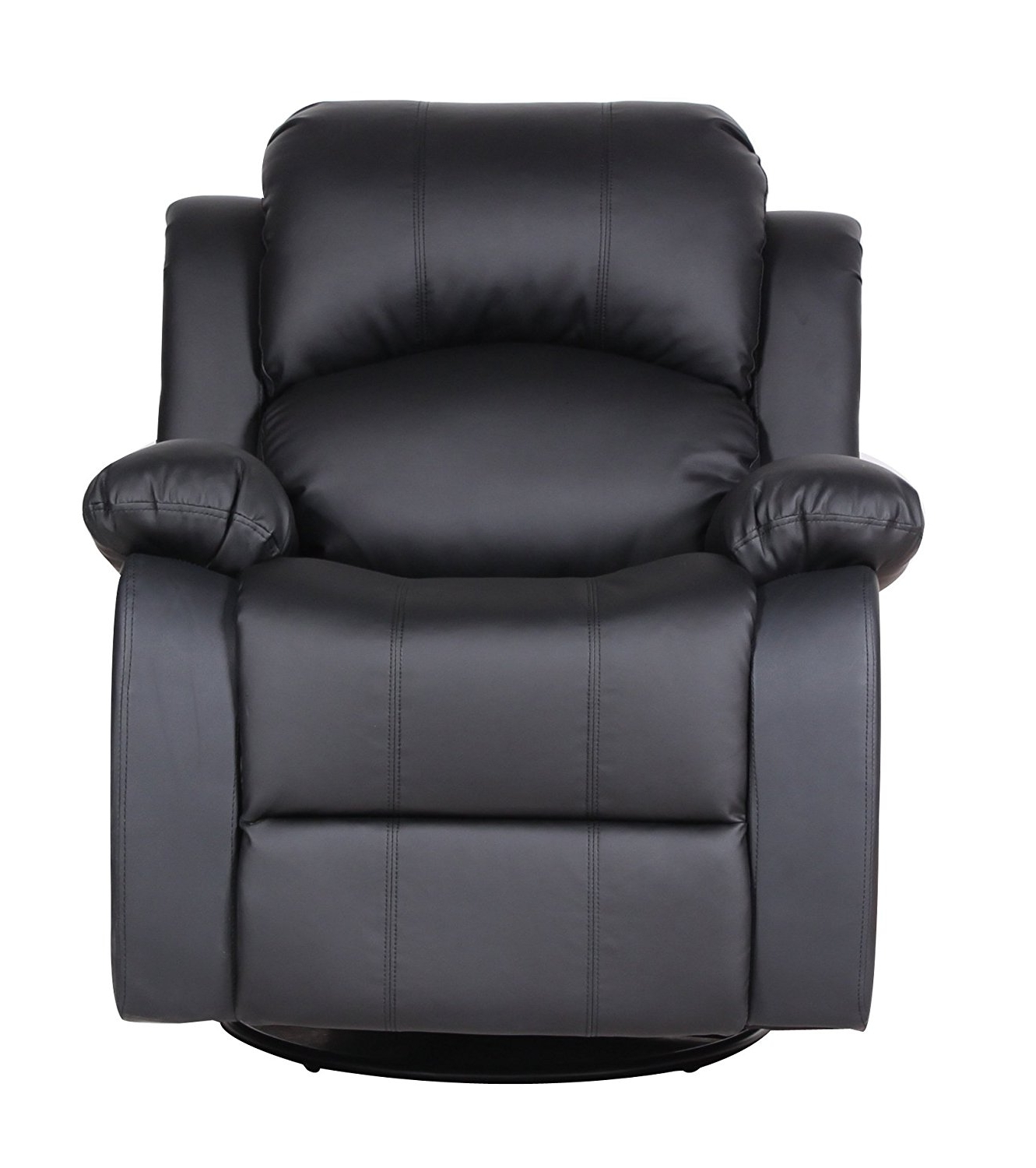 Rocking Sofa Chairs Regarding Most Recently Released Amazon: Bonded Leather Rocker And Swivel Recliner Living Room (View 4 of 15)