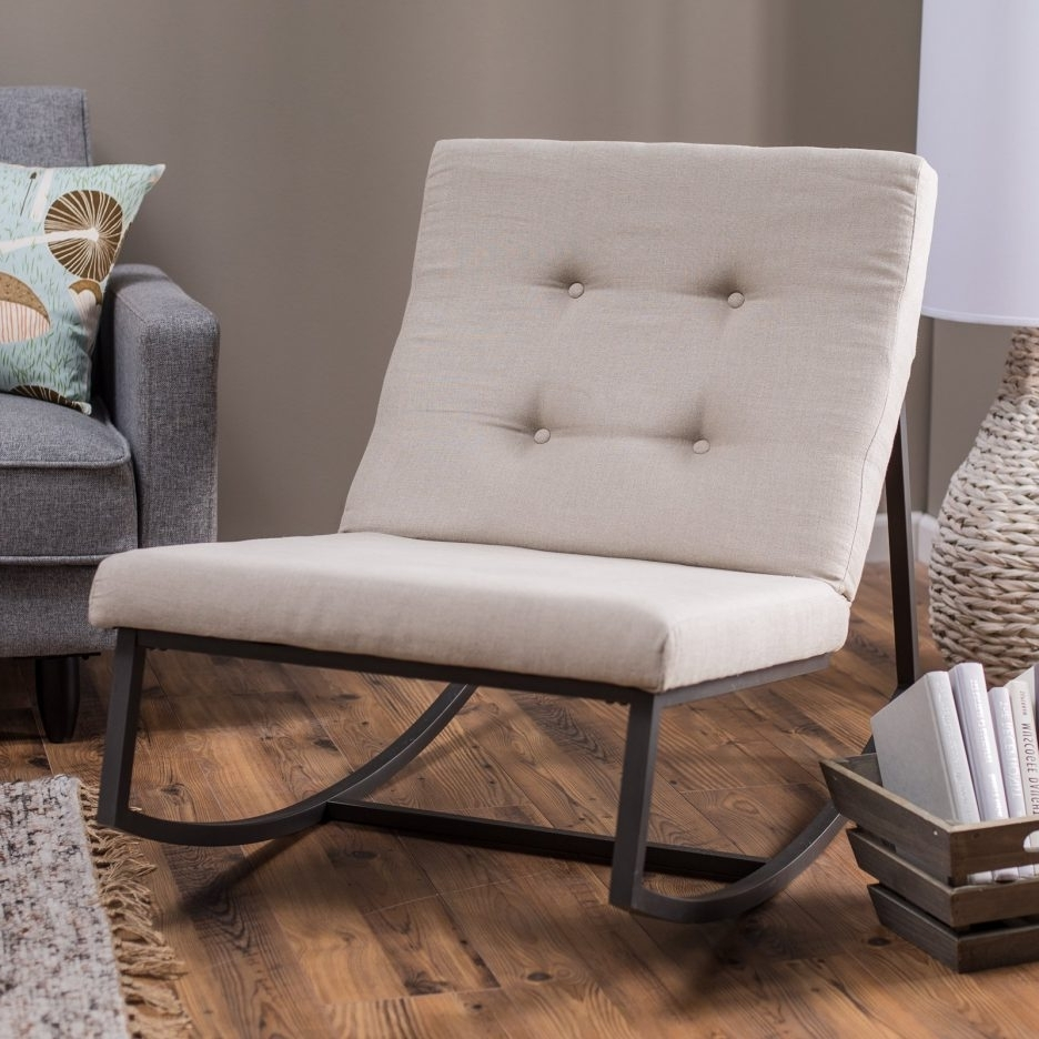 Rocking Sofa Chairs Regarding Recent Living Room : Wonderful Rocking Chair Decorating Ideas With Black (View 14 of 15)