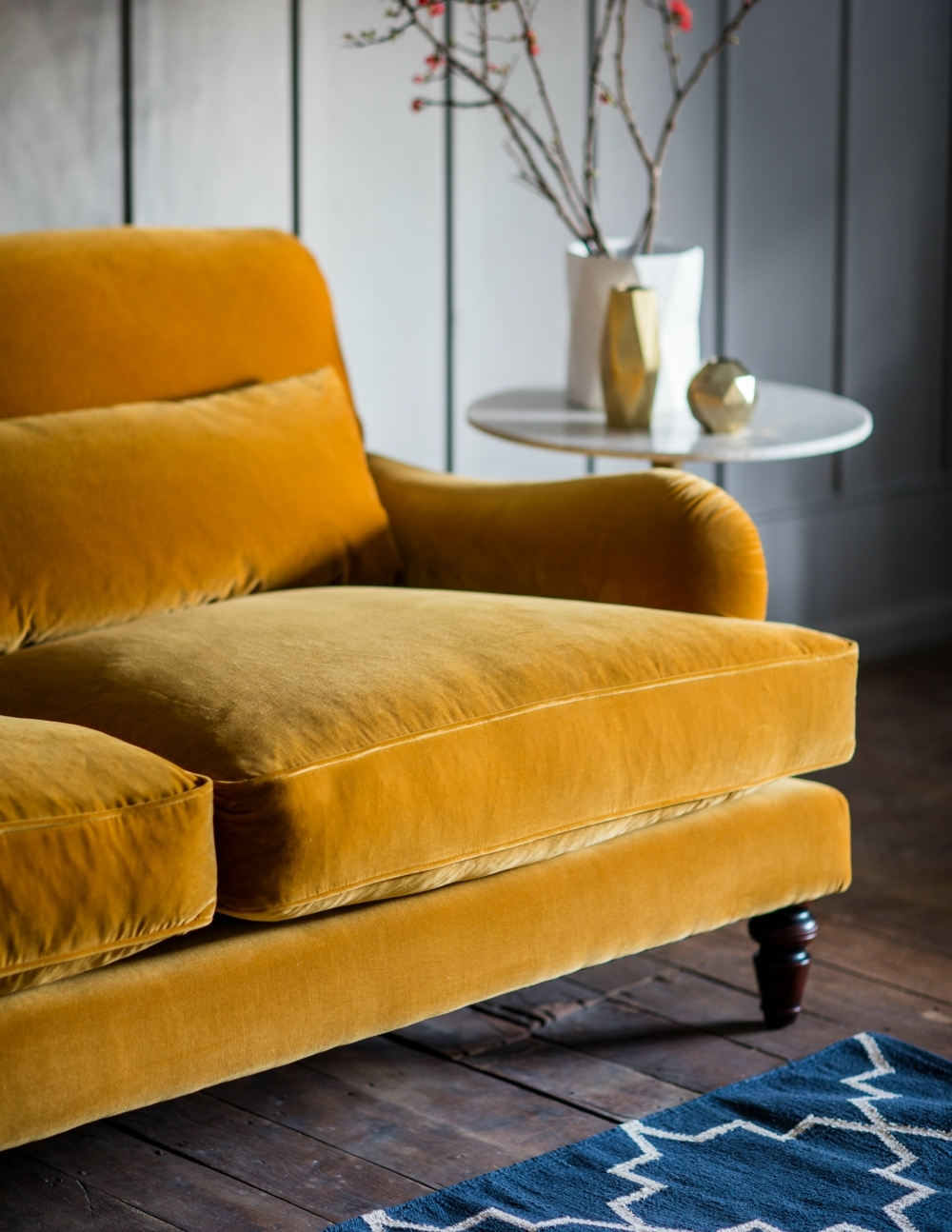 Rose & Grey Throughout Velvet Sofas (View 7 of 15)