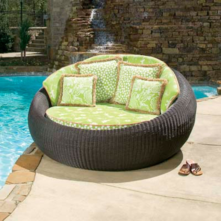 Round Patio Chaise Lounge — Optimizing Home Decor Ideas : Amazing For Well Known Patio Double Chaise Lounges (View 14 of 15)
