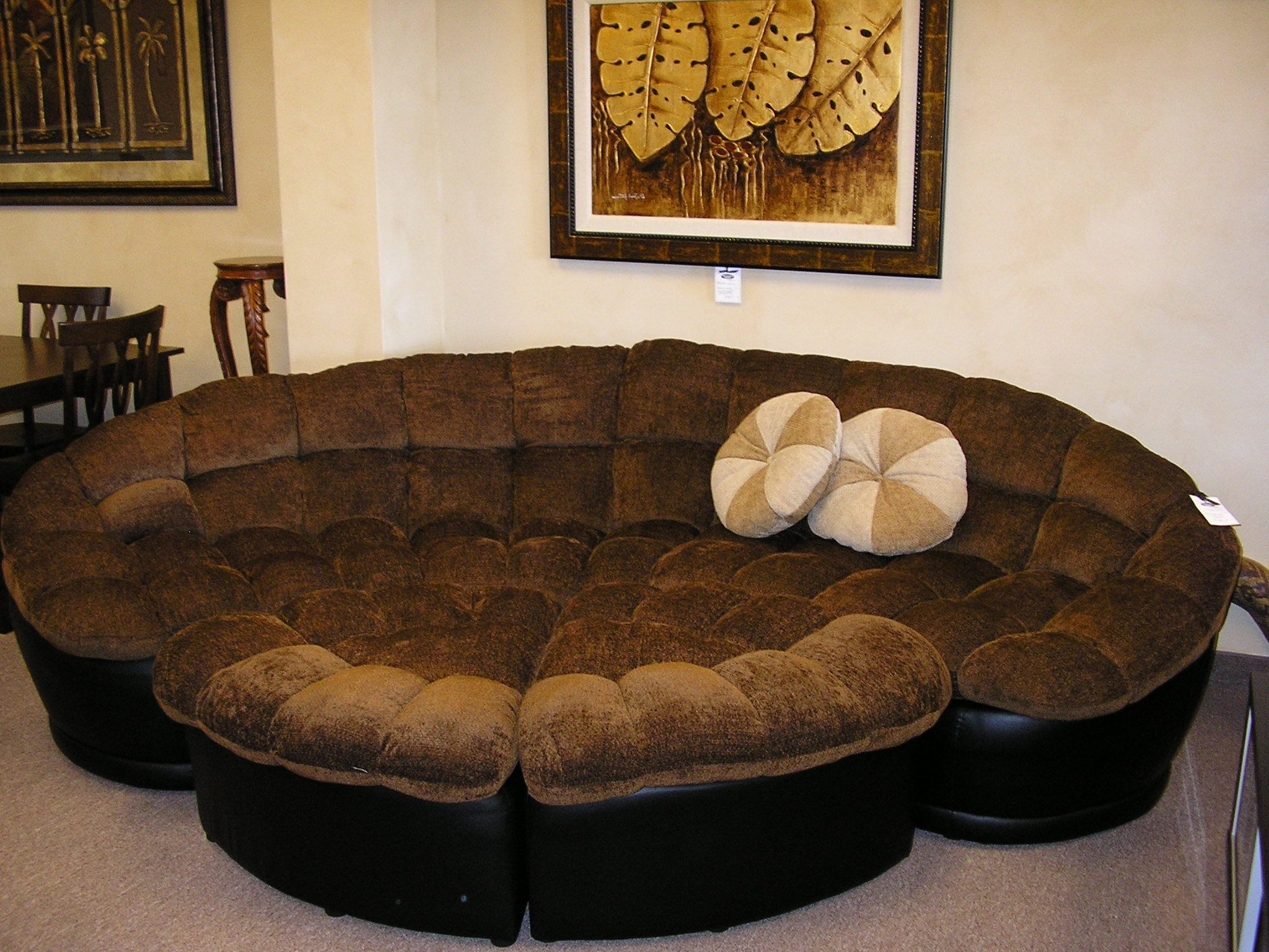 Round Sectional Sofas Pertaining To Popular Sectional Sofa Design: Beautiful Round Sectional Sofas Couches And (View 15 of 15)
