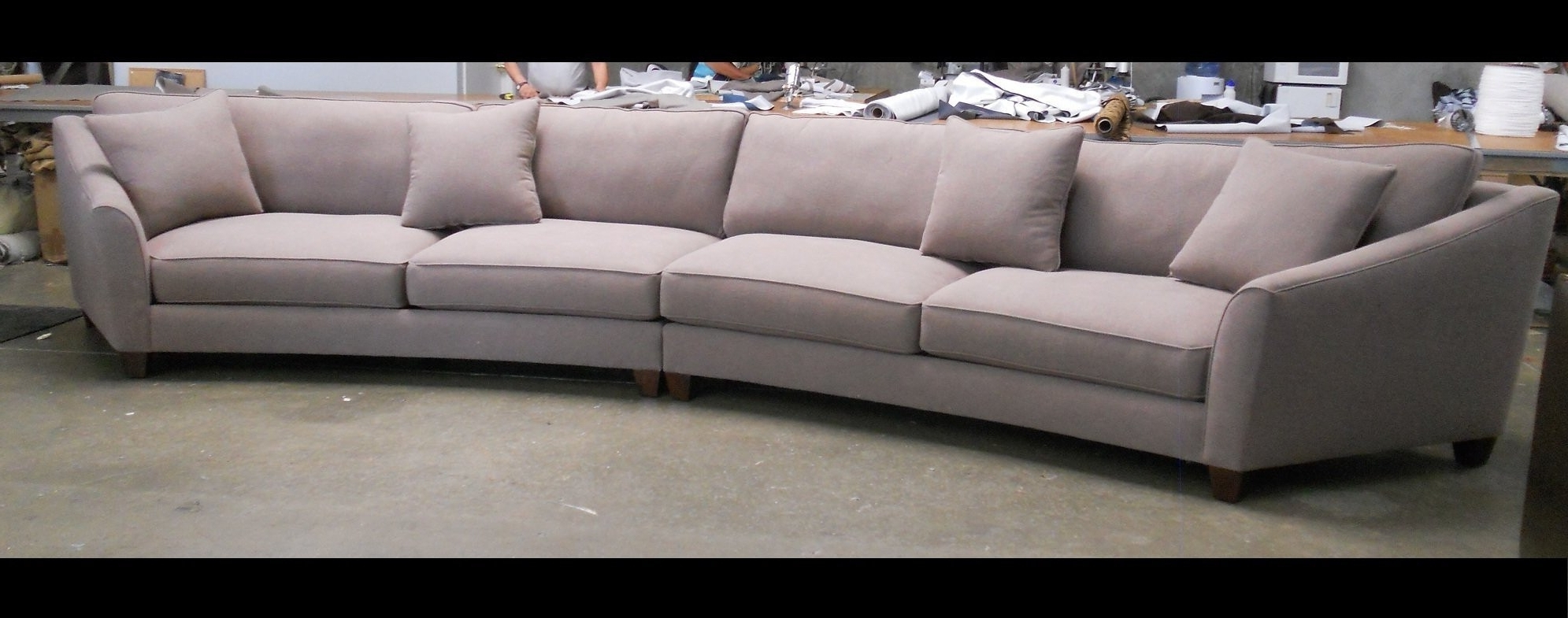 Rounded Sofas For Trendy Bargain Rounded Sectional Sofa Curved Design Cabinets Beds Sofas (View 11 of 15)