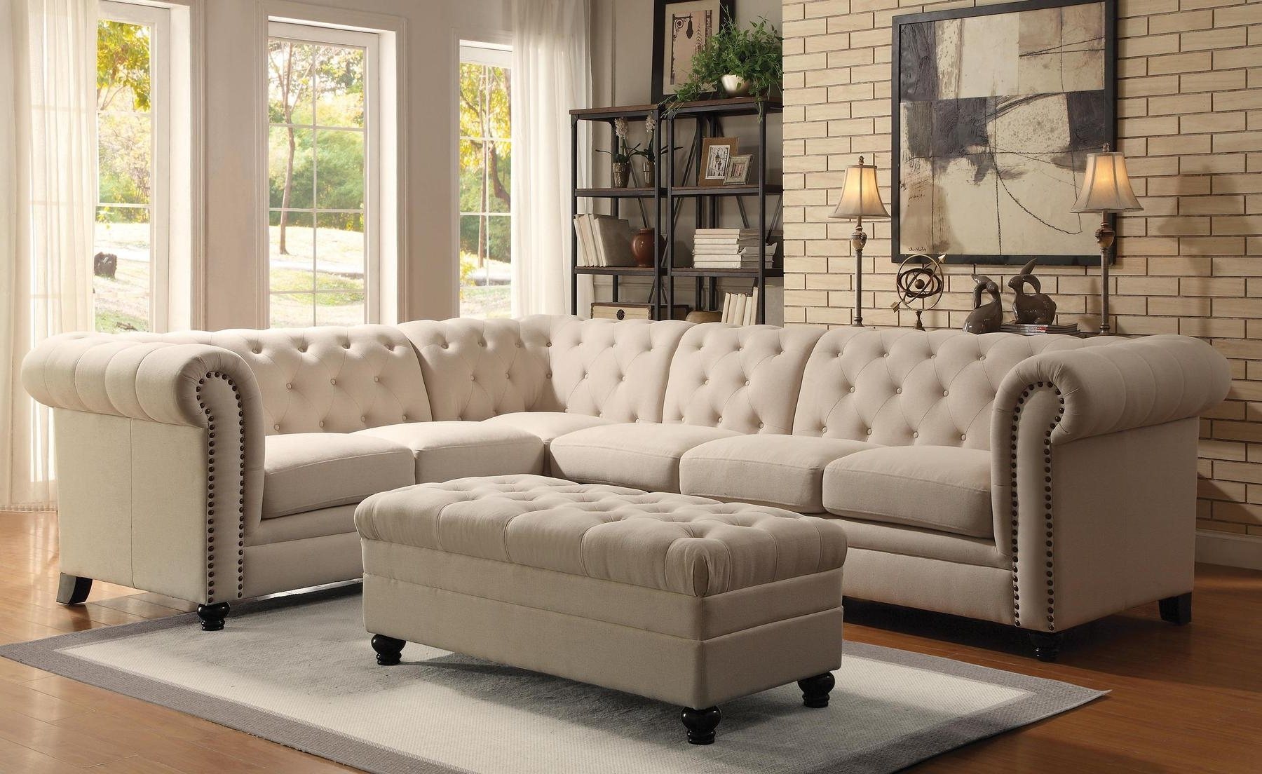 Roy Oatmeal Sectional Sofa 500222 Coaster Furniture Sectional With Regard To Most Up To Date Quality Sectional Sofas (View 14 of 15)